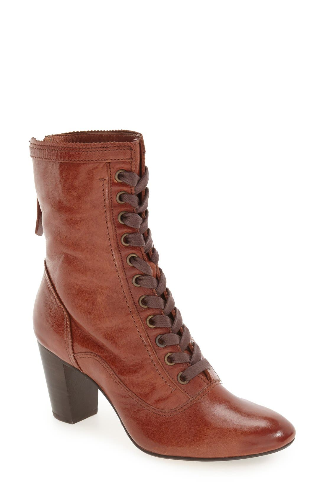 'Adaline' Lace-Up Boot,                         Main,                         color, Whiskey Washed Leather
