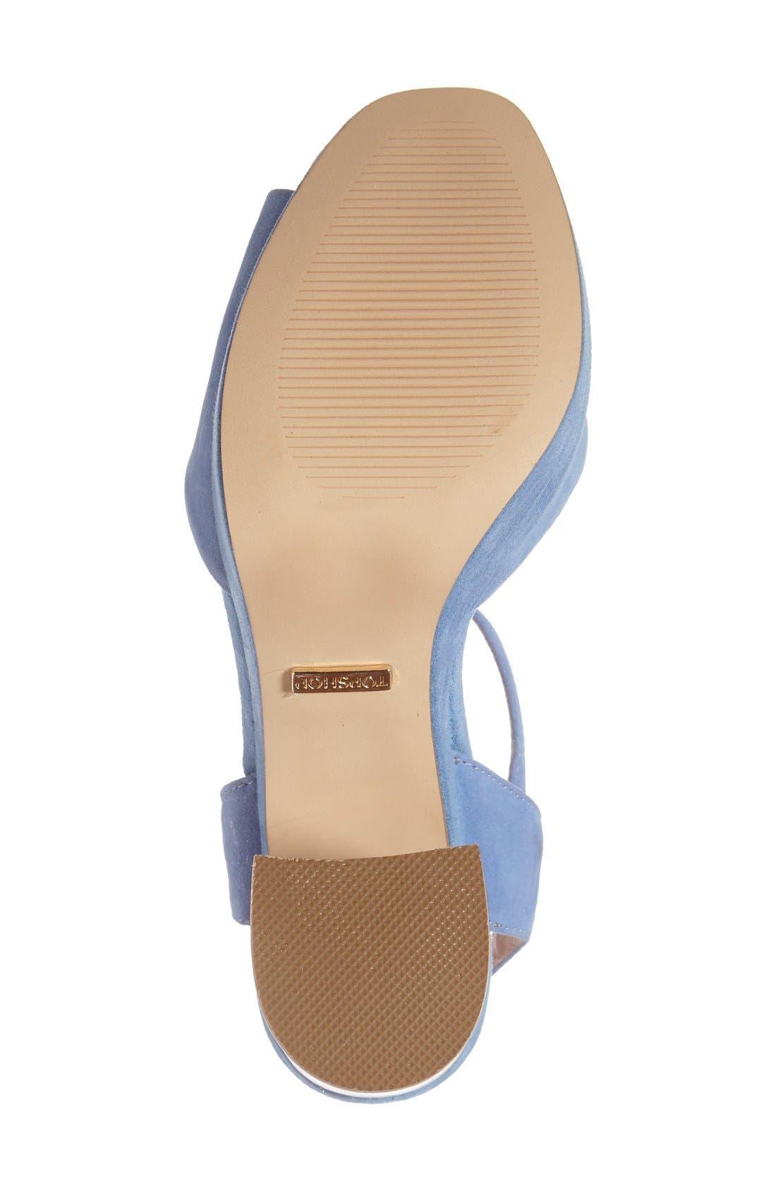 'Lana' Chunky Platform Sandal,                             Alternate thumbnail 4, color,                             Blue