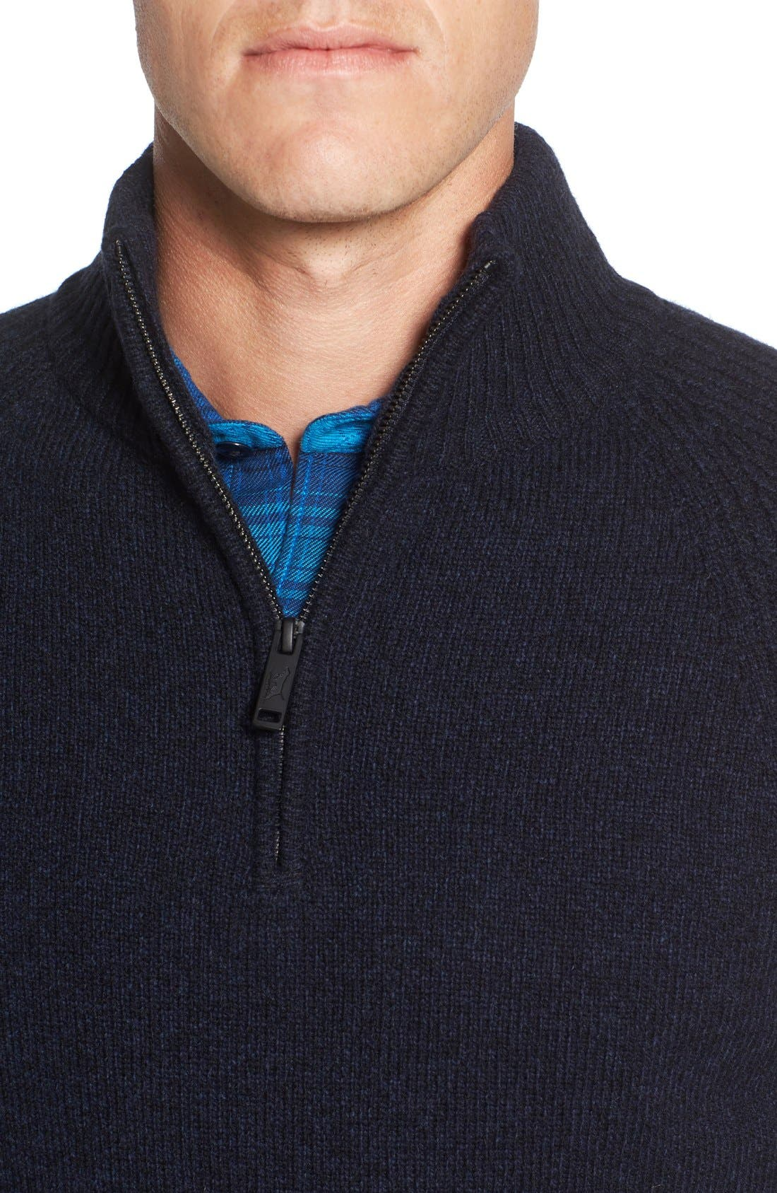 Stredwick Lambswool Sweater,                             Alternate thumbnail 4, color,                             Midnight