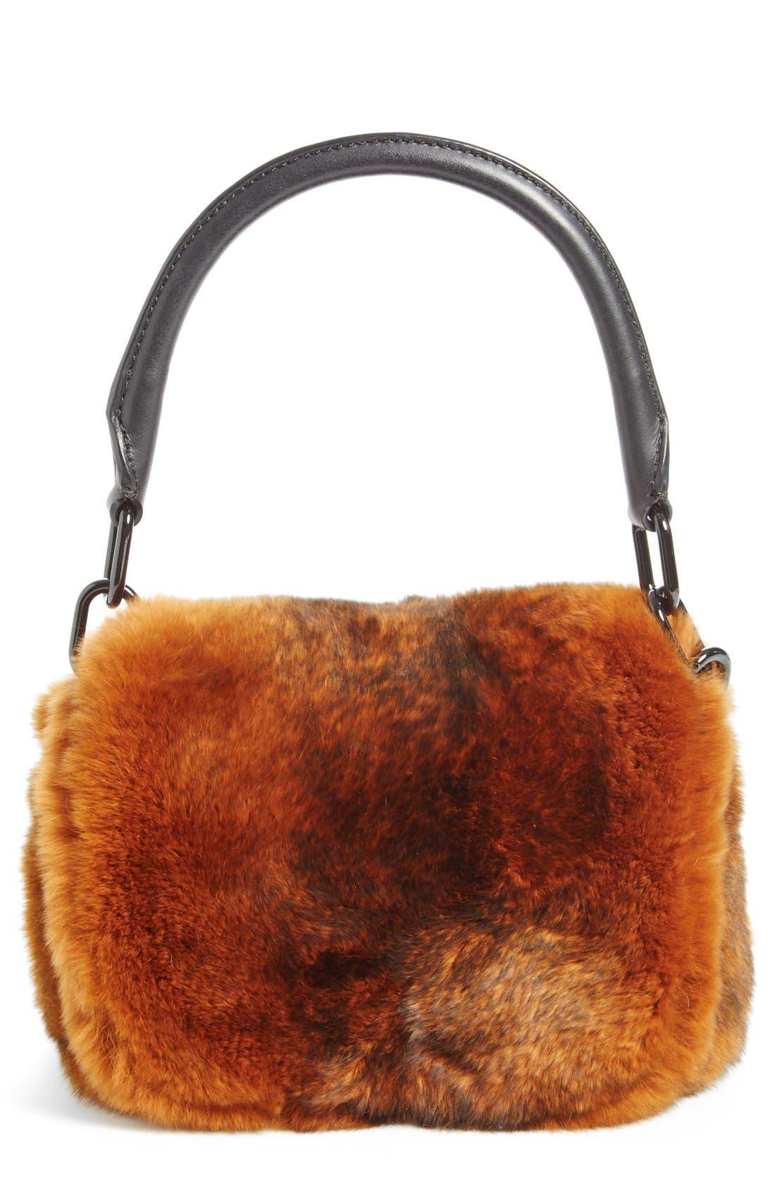 Alternate Image 1 Selected - Alexander Wang Mini Genuine Rabbit Fur Handbag
