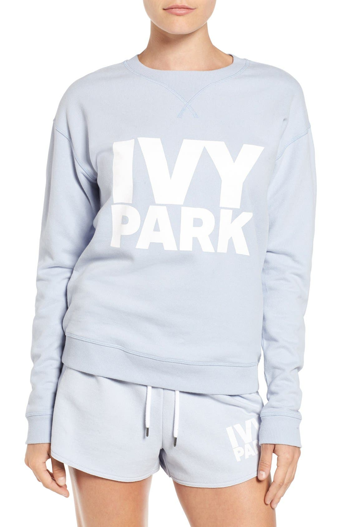 Main Image - IVY PARK® Logo Peached Sweatshirt