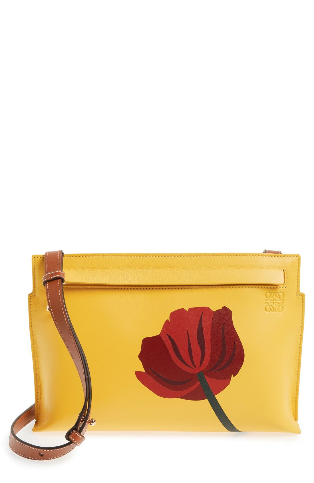 Main Image - Loewe 'Fiore' Marquetry Calfskin Leather Crossbody Clutch