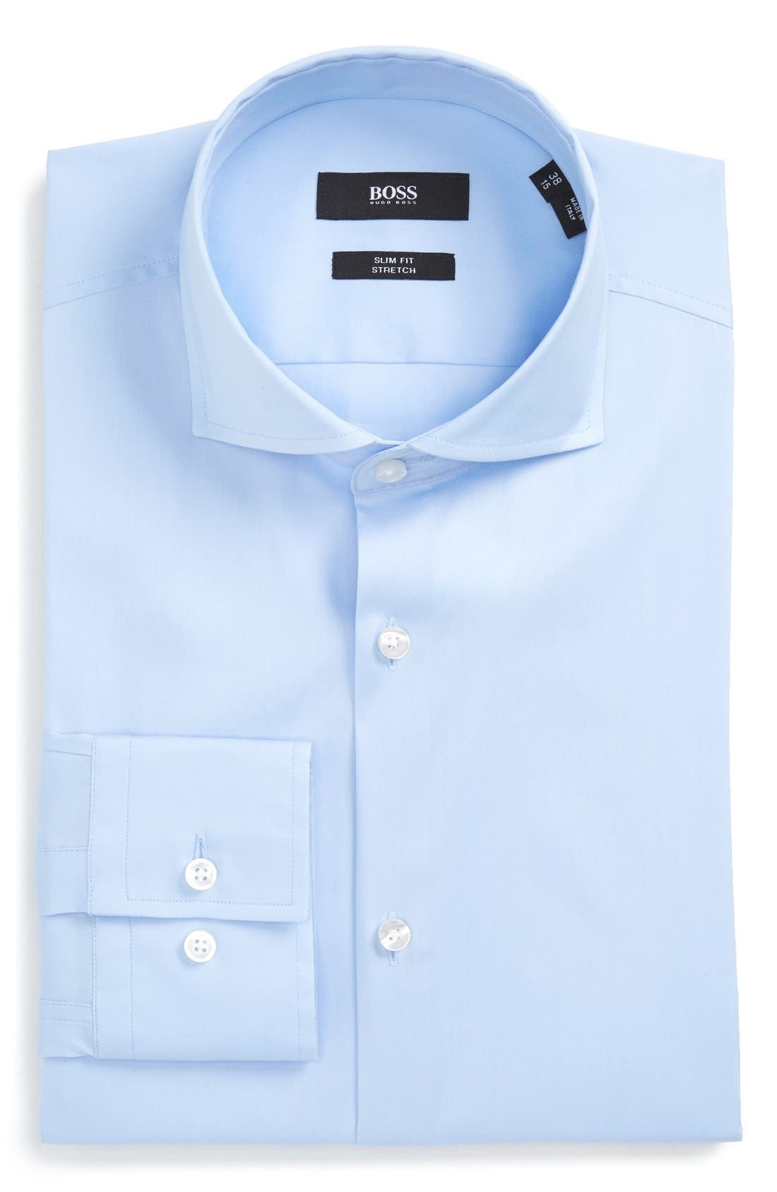 Alternate Image 1 Selected - BOSS 'Jason' Slim Fit Solid Stretch Dress Shirt
