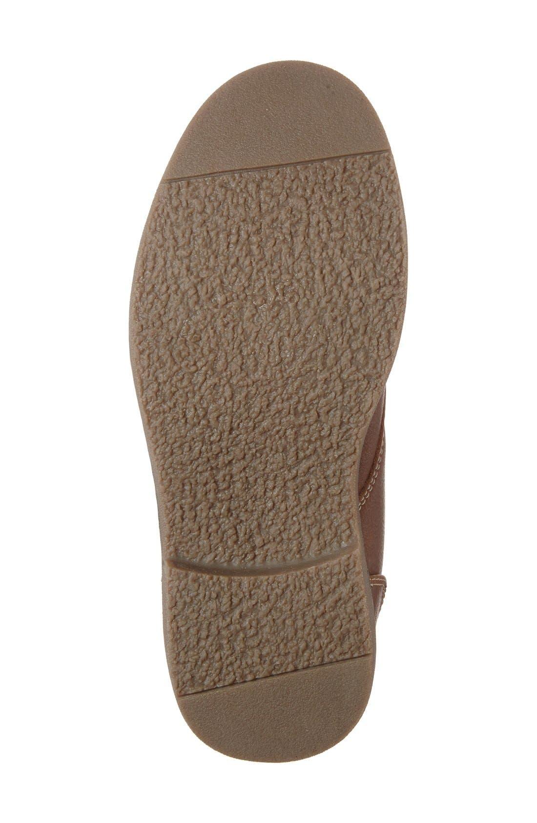 Classic Chukka Boot,                             Alternate thumbnail 4, color,                             Cognac Faux Leather