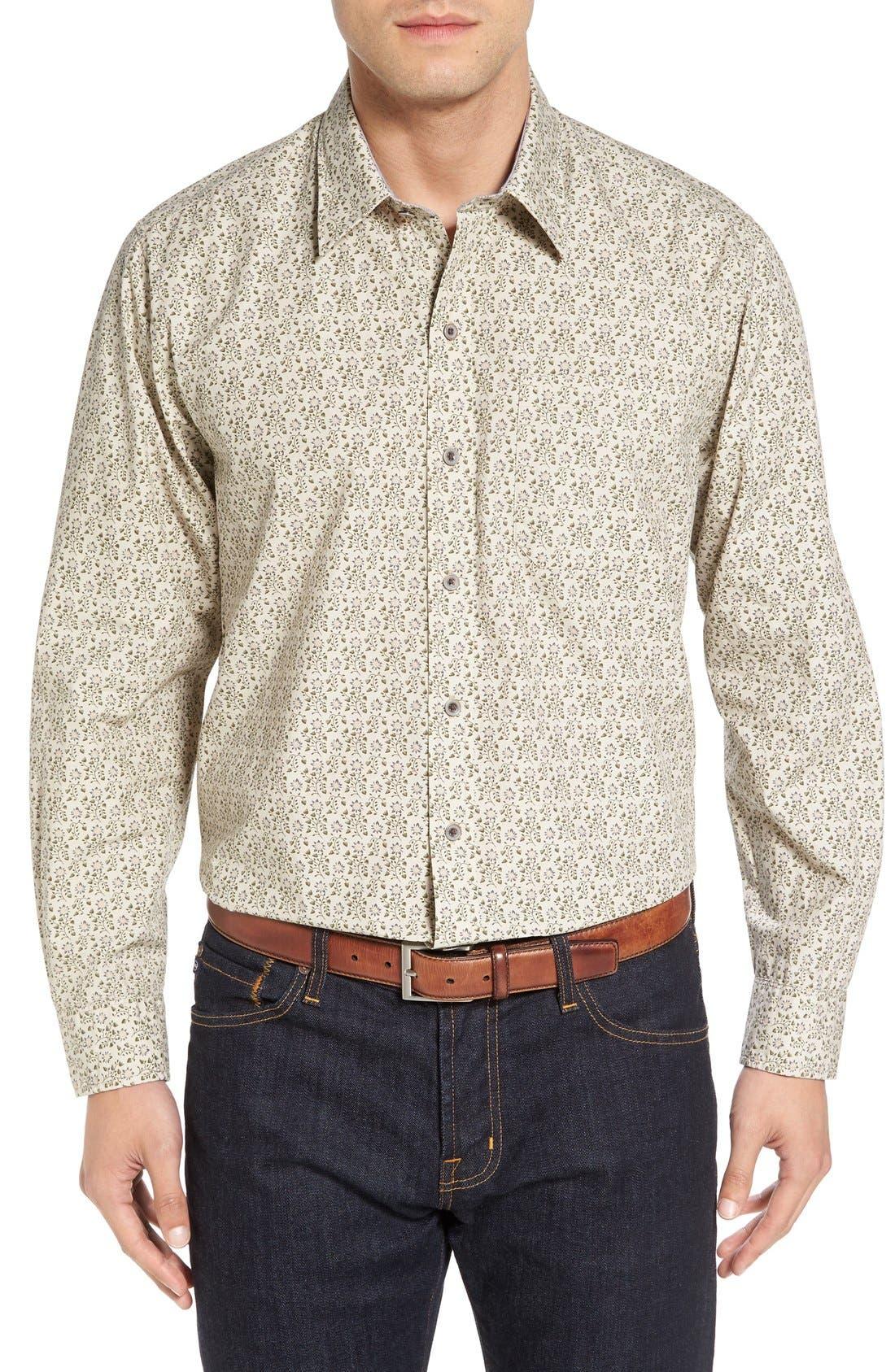 Cutter & Buck 'Winston' Regular Fit Print Sport Shirt (Big & Tall)