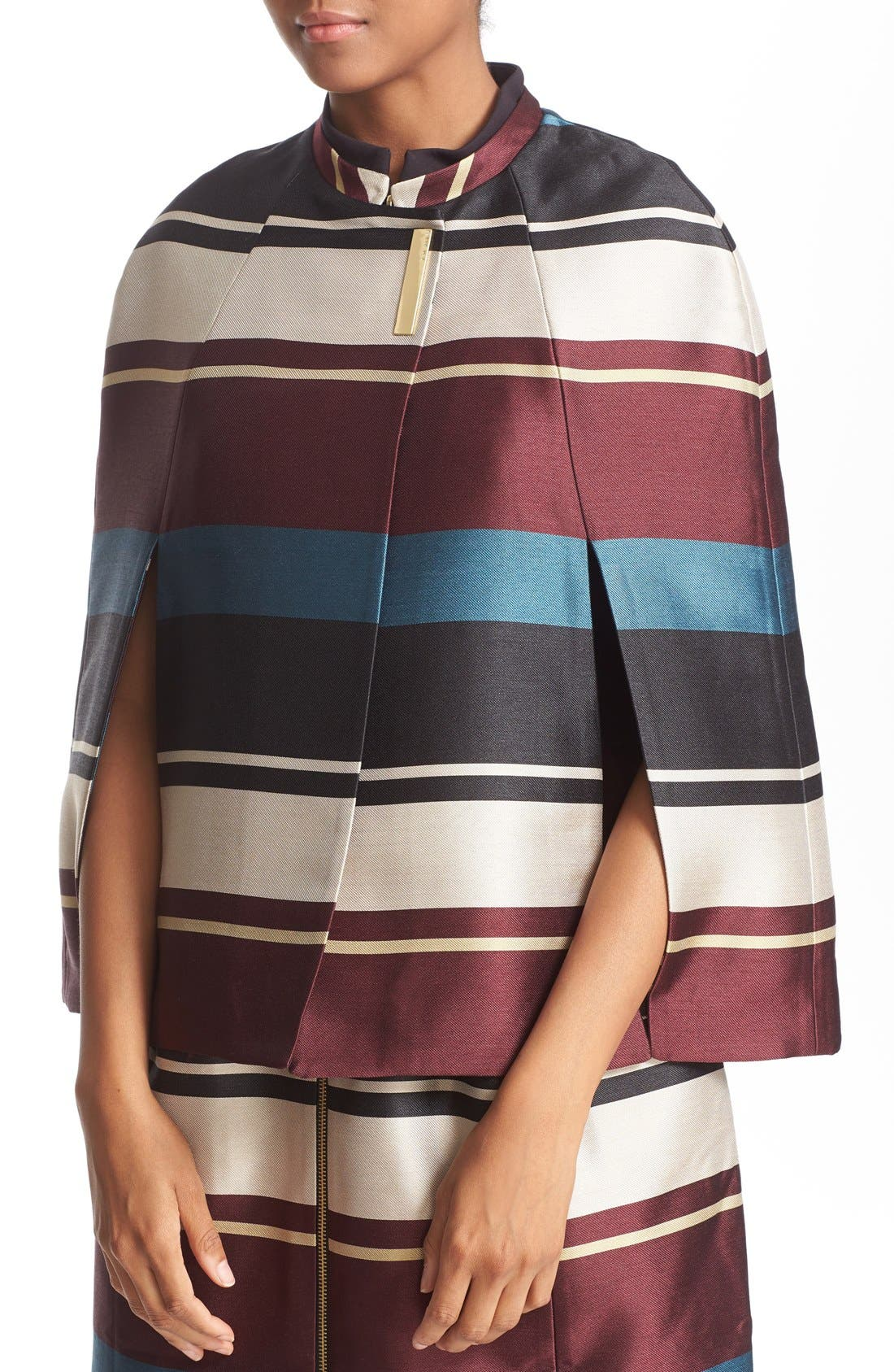 Alternate Image 5  - Ted Baker London 'Zuavi' Stripe Jacquard Cape