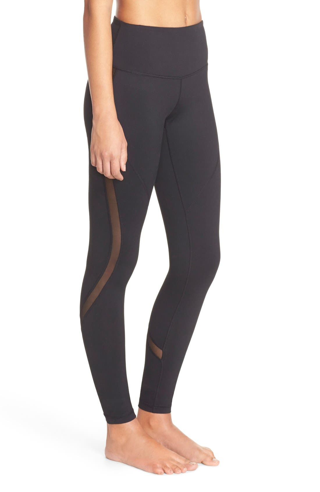 Main Image - Zella Sheer to Here High Waist Leggings