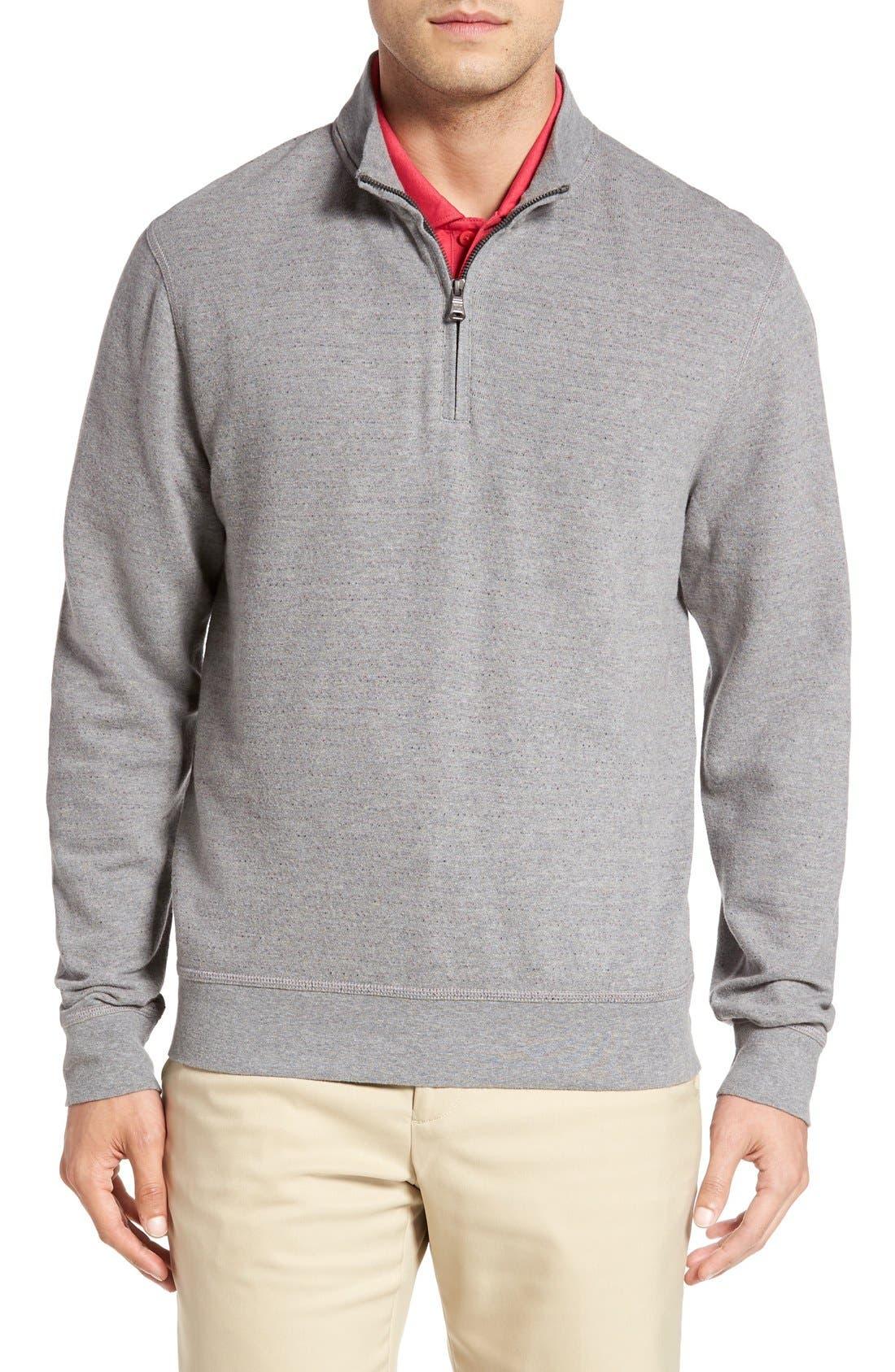 'Gleann' Quarter Zip Pullover,                         Main,                         color, Alchemy Heather