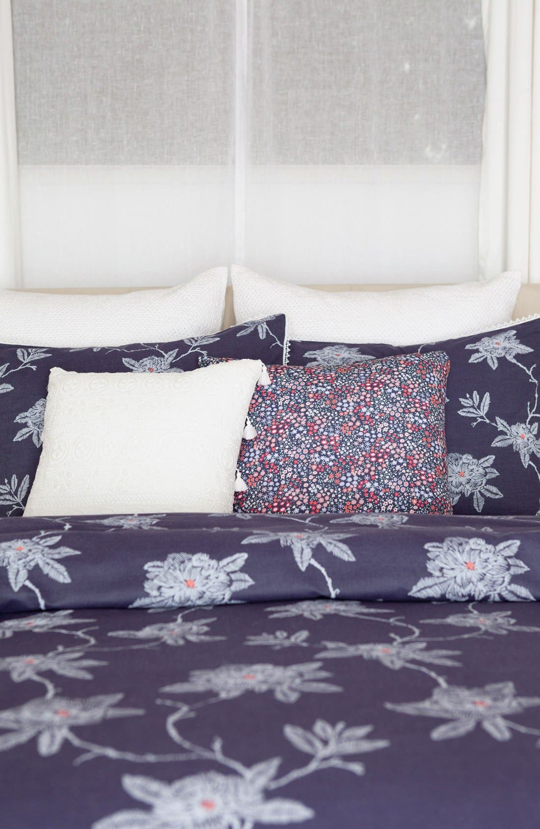 Alternate Image 3  - cupcakes and cashmere 'Sketch' Floral Print Sham