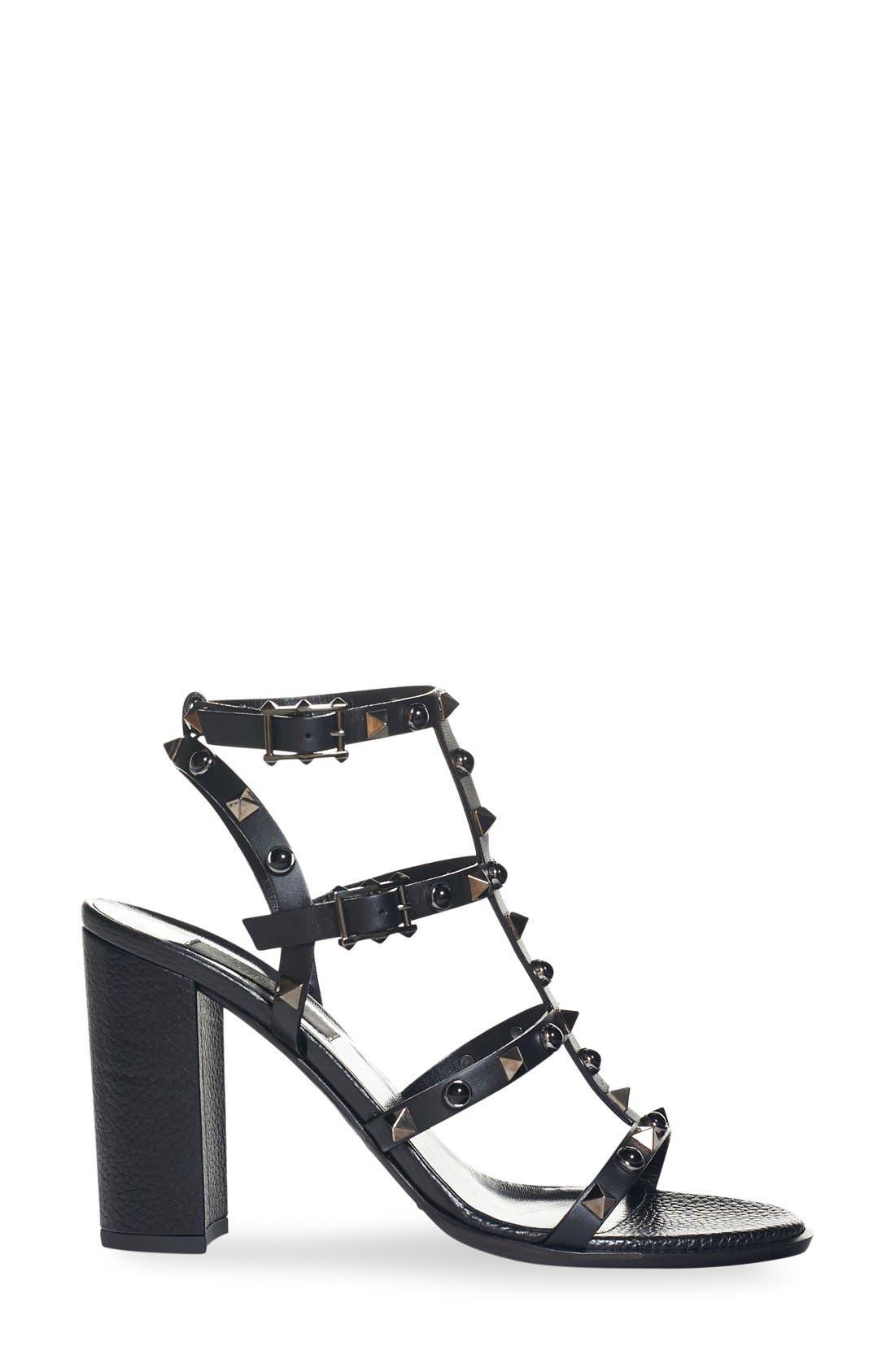 Alternate Image 2  - Valentino Noir Rolling Rockstud Sandal (Women)