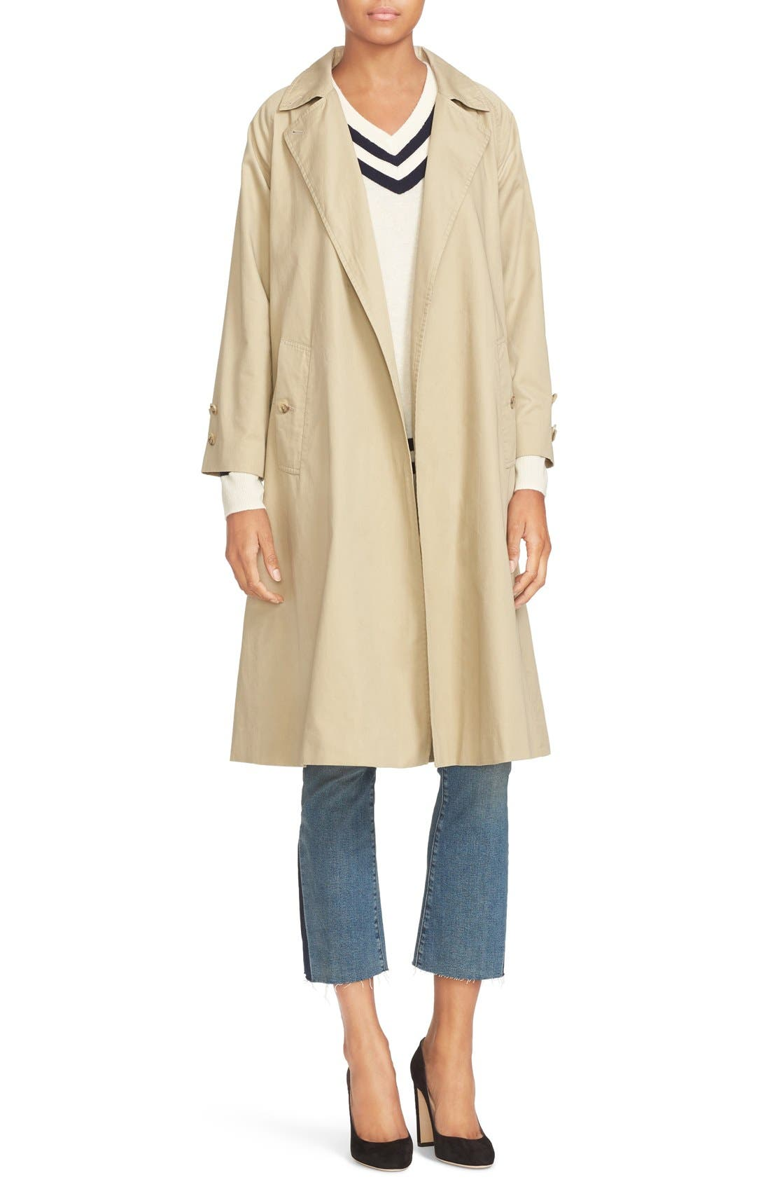 Alternate Image 2  - FRAME Cotton Trench Coat