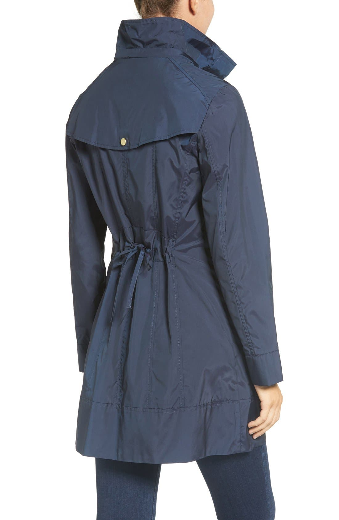 Alternate Image 2  - Cole Haan Signature Back Bow Packable Hooded Raincoat (Regular & Petite)