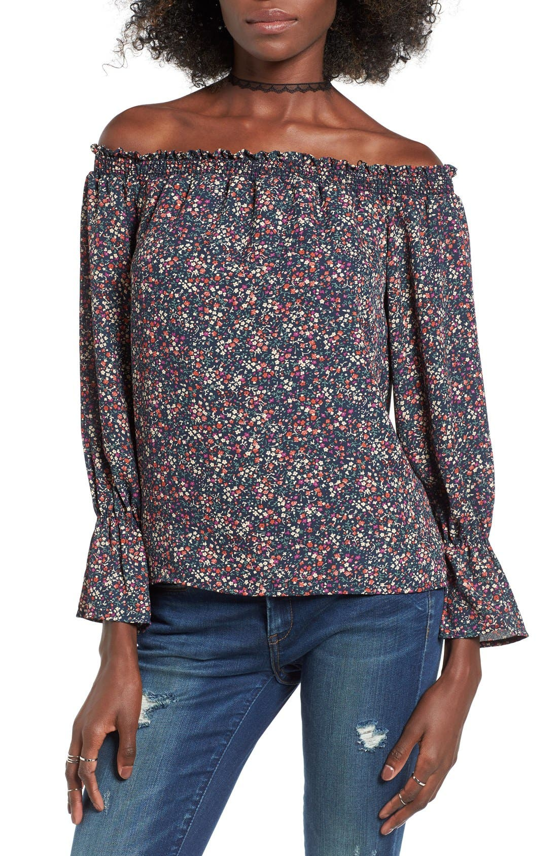 Main Image - WAYF Off the Shoulder Blouse