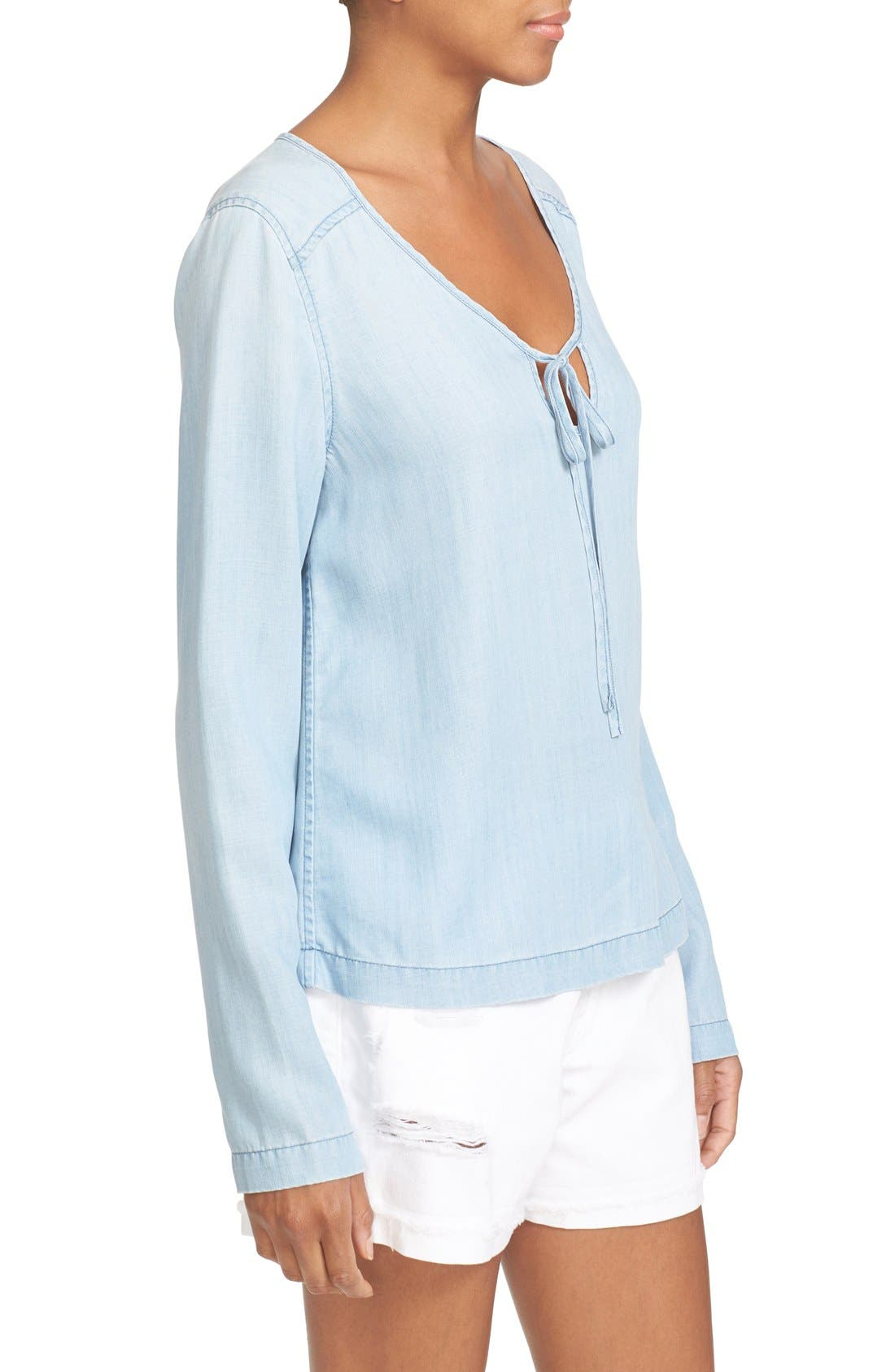 Alternate Image 3  - FRAME Chambray Blouse