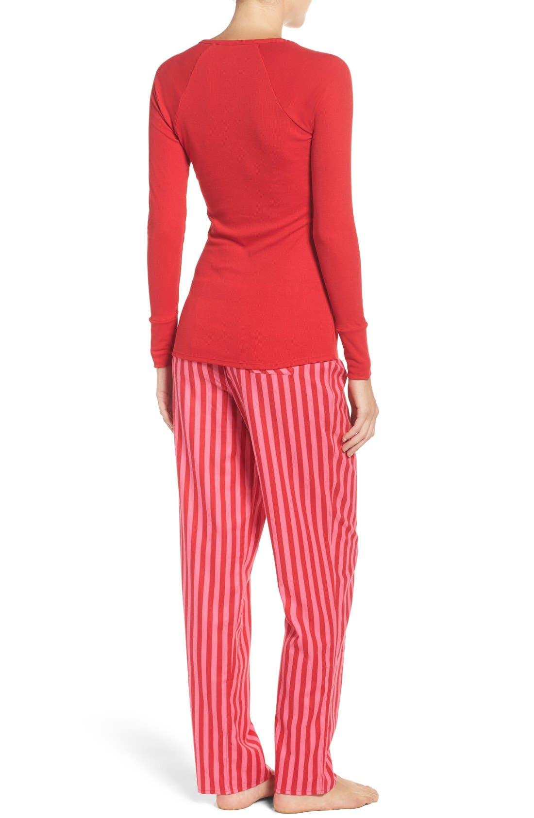 Alternate Image 3  - Betsey Johnson Flannel Pajamas