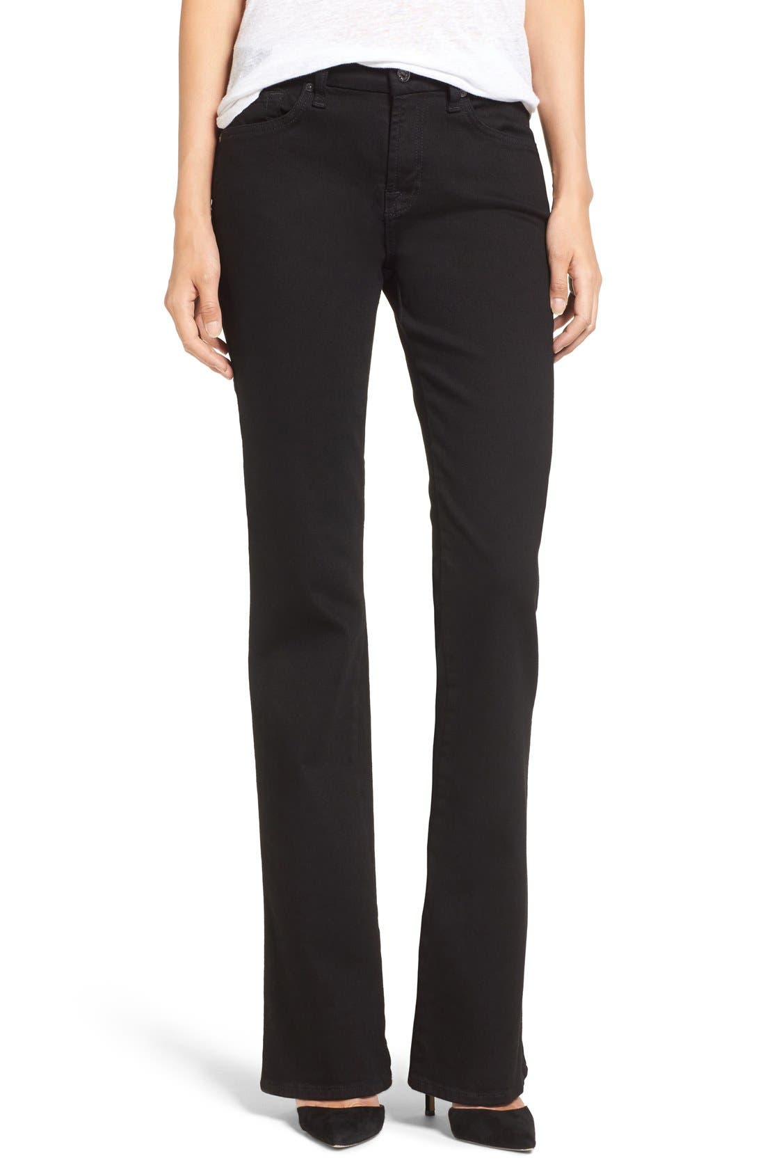 Alternate Image 1 Selected - 7 For All Mankind® 'Kimmie' Bootcut Jeans (Washed Overdyed Black)