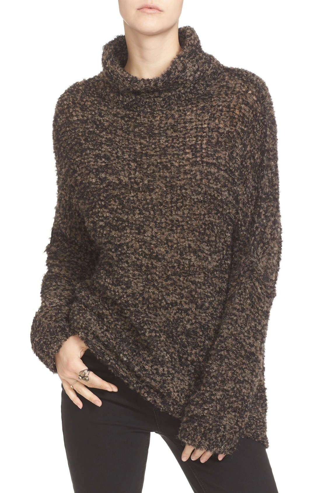 'She's All That' Knit Turtleneck Sweater,                             Main thumbnail 1, color,                             Black