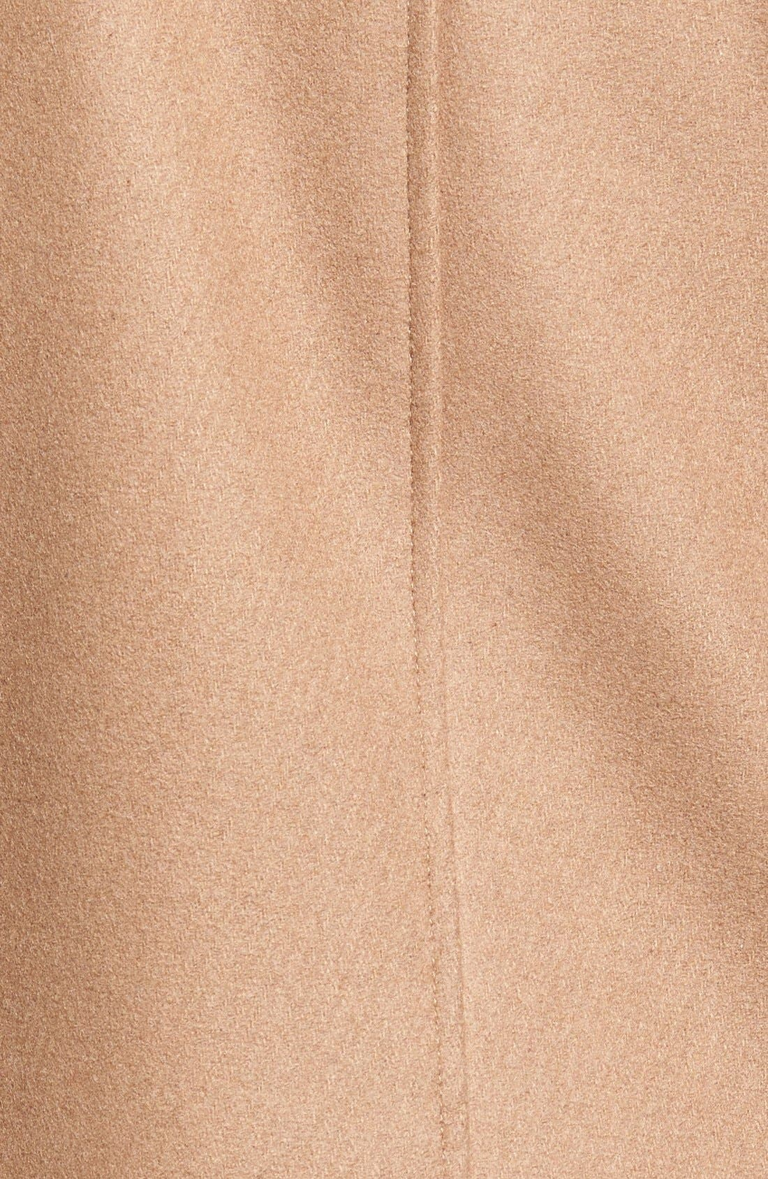 Cole Haan Hooded Duffle Coat with Faux Fur Trim,                             Alternate thumbnail 5, color,                             Camel