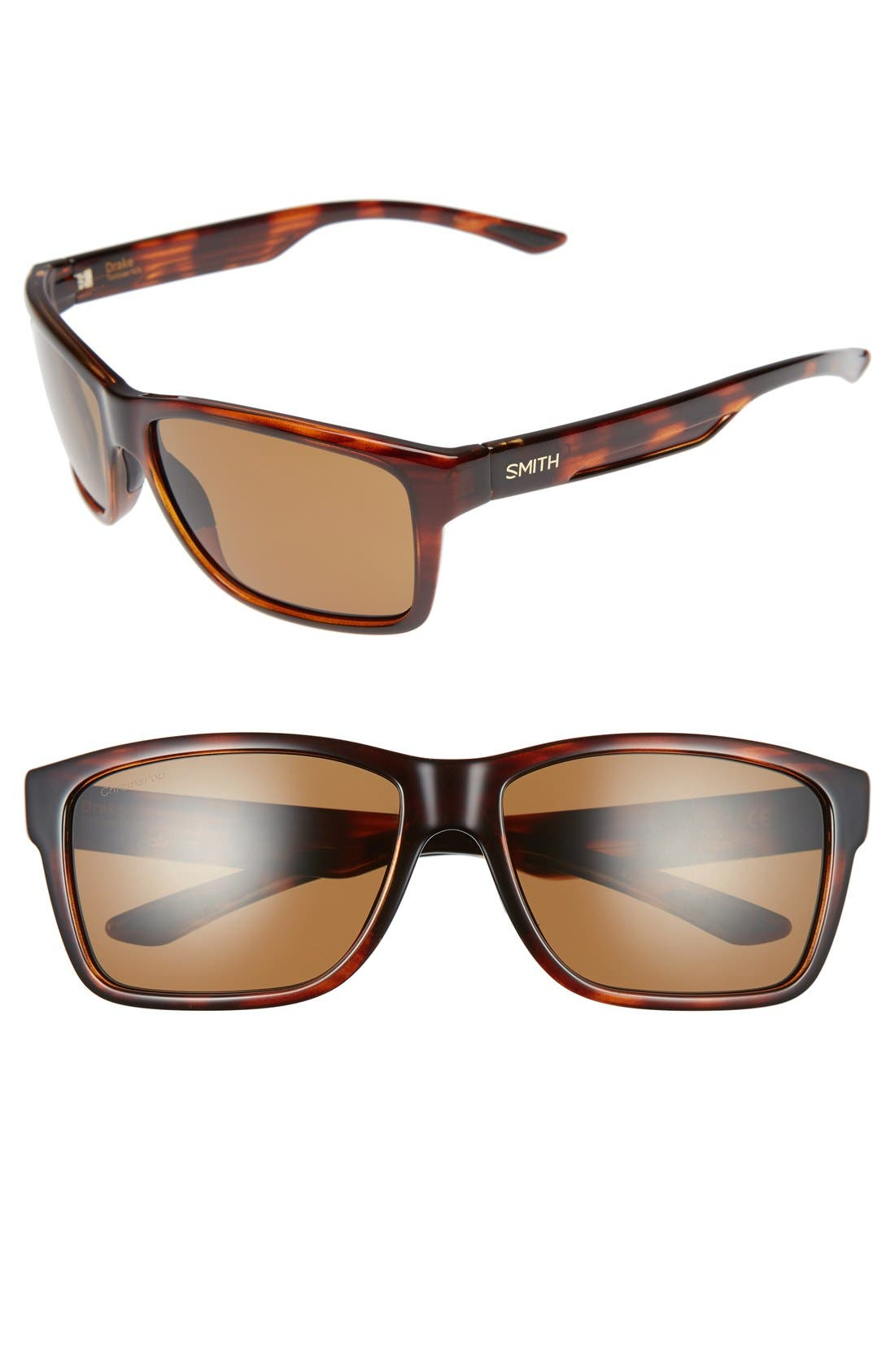 'Drake' 61mm Polarized Sunglasses,                         Main,                         color, Tortoise