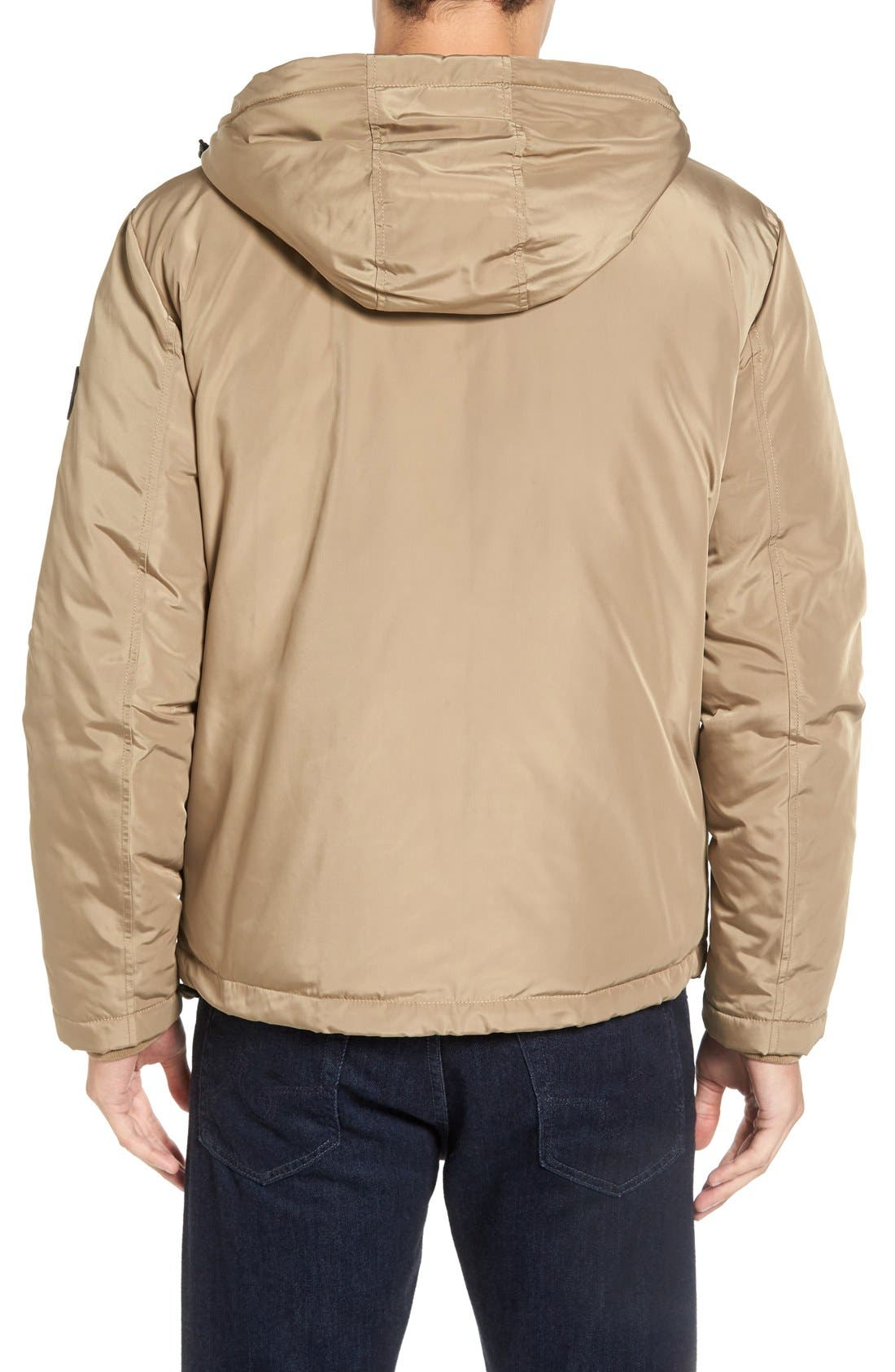 Water Resistant Insulated Jacket,                             Alternate thumbnail 2, color,                             Khaki