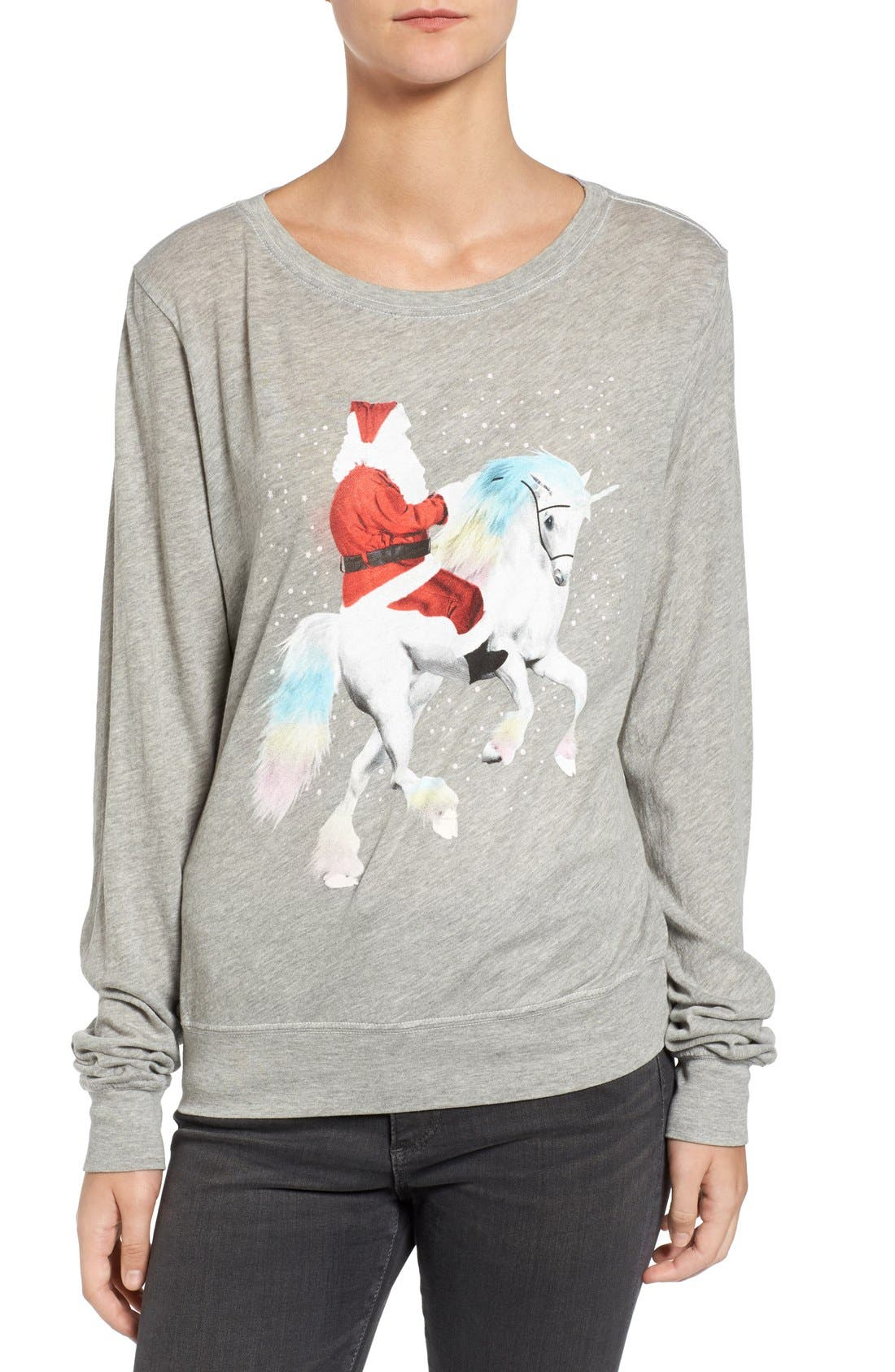 Alternate Image 1 Selected - Wildfox Unicorn Sleigh Tee