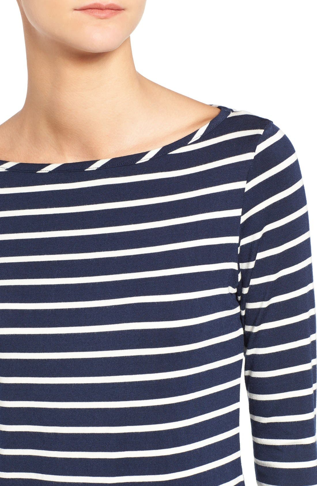 Francoise Stripe Top,                             Alternate thumbnail 4, color,                             Basque Stripe