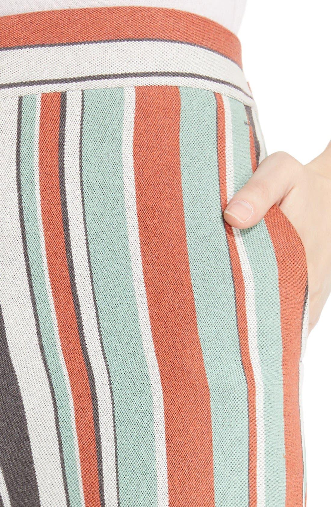 Alternate Image 6  - Chloé Mixed Stripe Wide Leg Pants