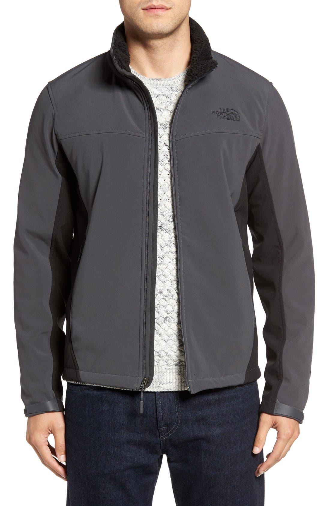 'Apex Chromium' Waterproof Thermal Jacket,                         Main,                         color, Asphalt Grey/ Tnf Black