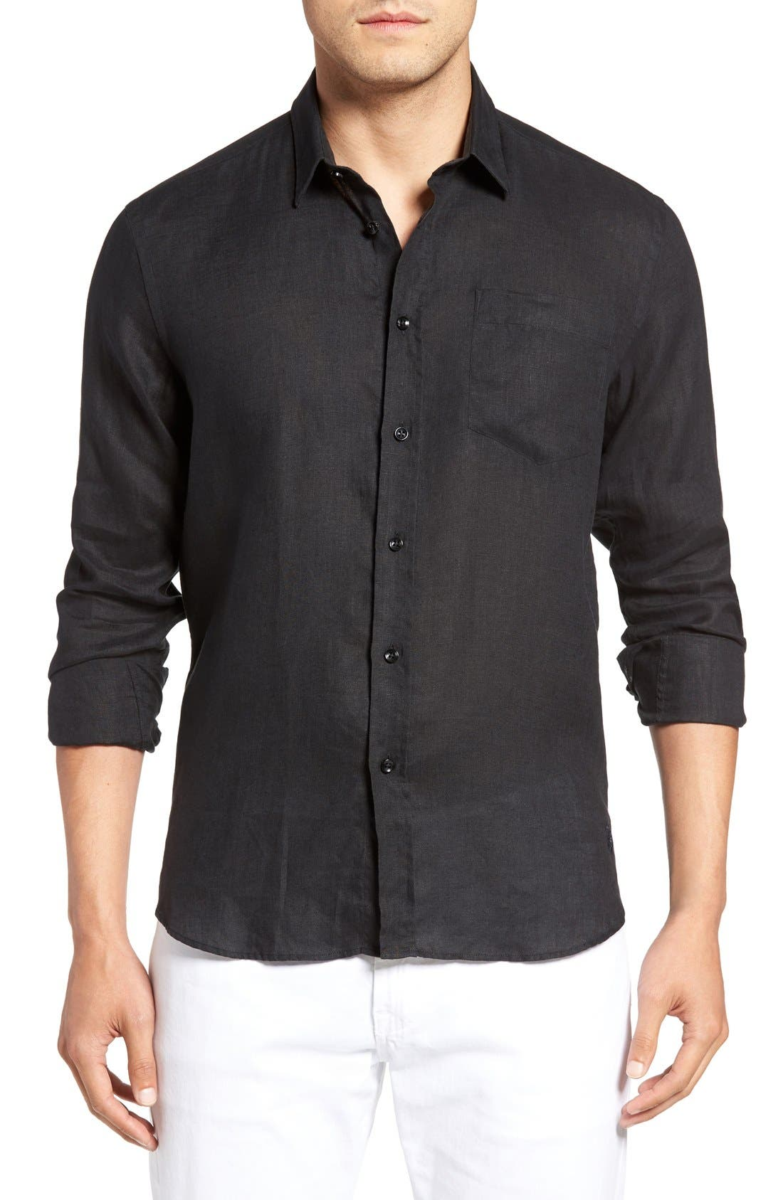 Vilebrequin Caroubie Regular Fit Linen Sport Shirt