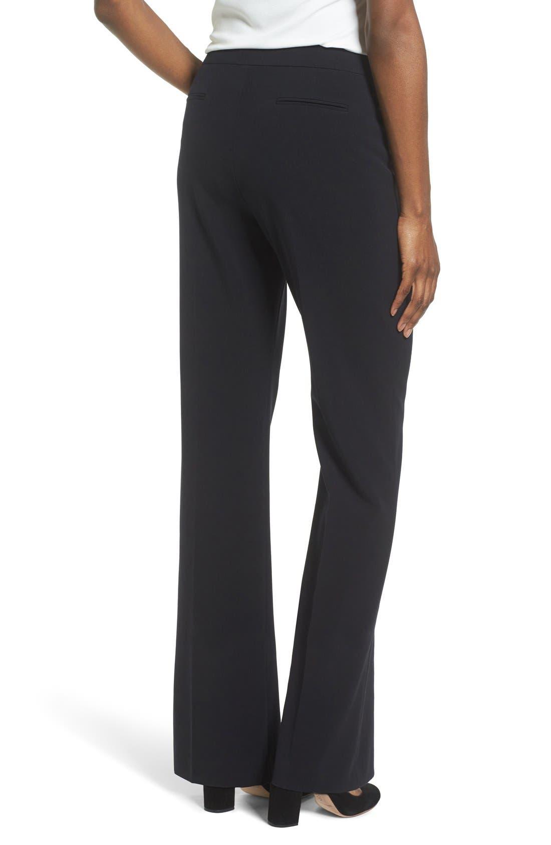 Flare Leg Suit Pants,                             Alternate thumbnail 3, color,                             Anne Klein Black