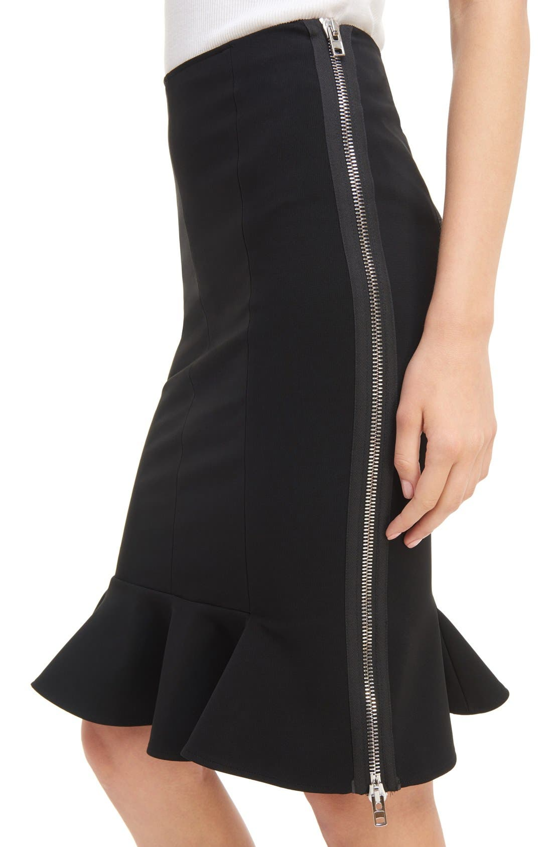Alternate Image 5  - Givenchy Side Zip Crepe Jersey Skirt