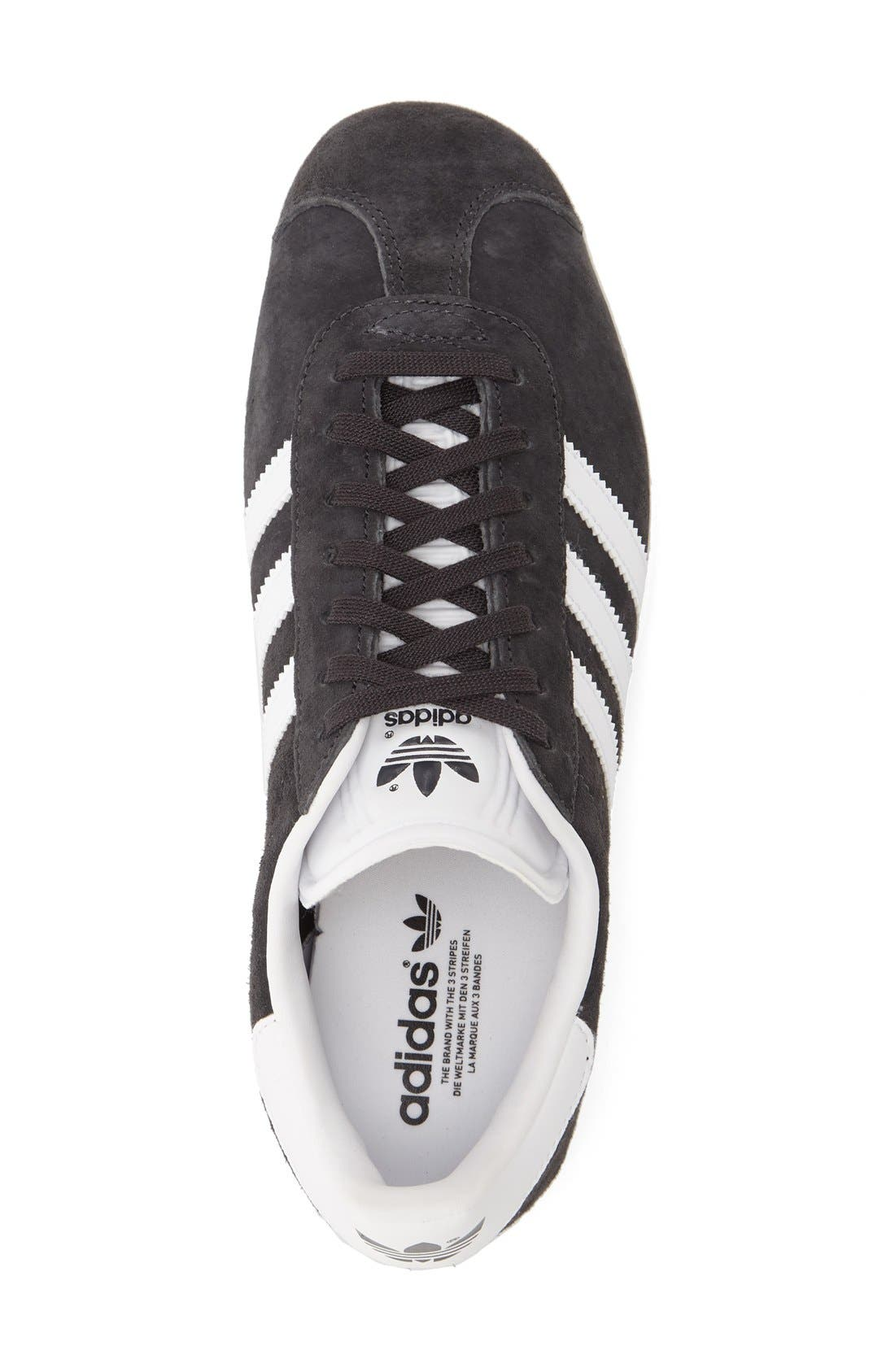 Gazelle Sneaker,                             Alternate thumbnail 3, color,                             Solid Grey
