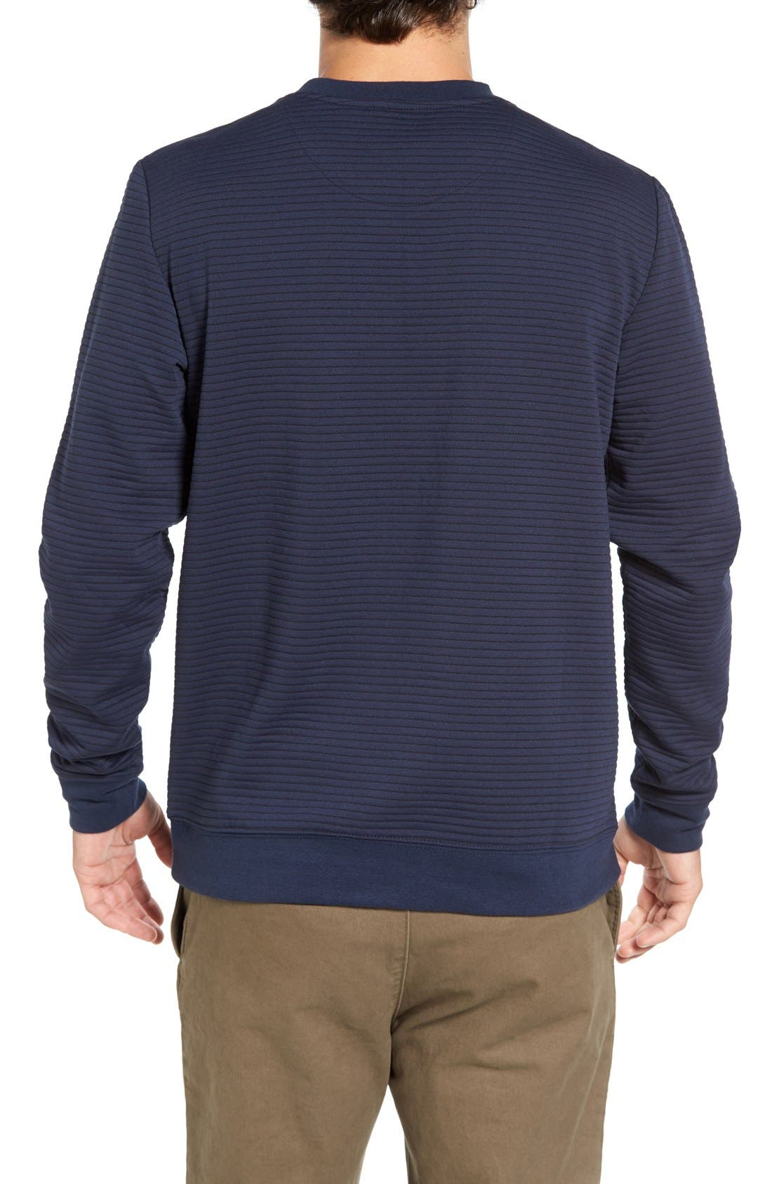 Stripe Pullover,                             Alternate thumbnail 2, color,                             Dark Blue Royal