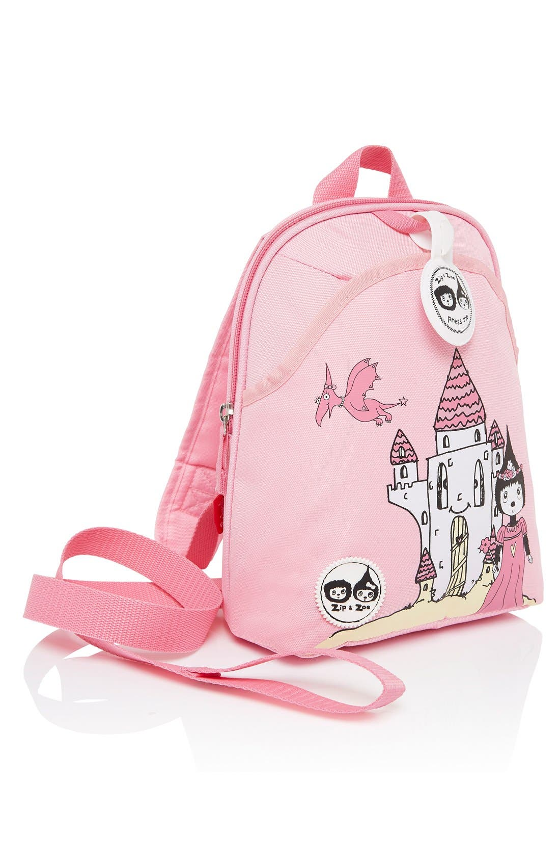 Graphic Mini Backpack,                             Alternate thumbnail 8, color,                             Daisy Dragon Castle