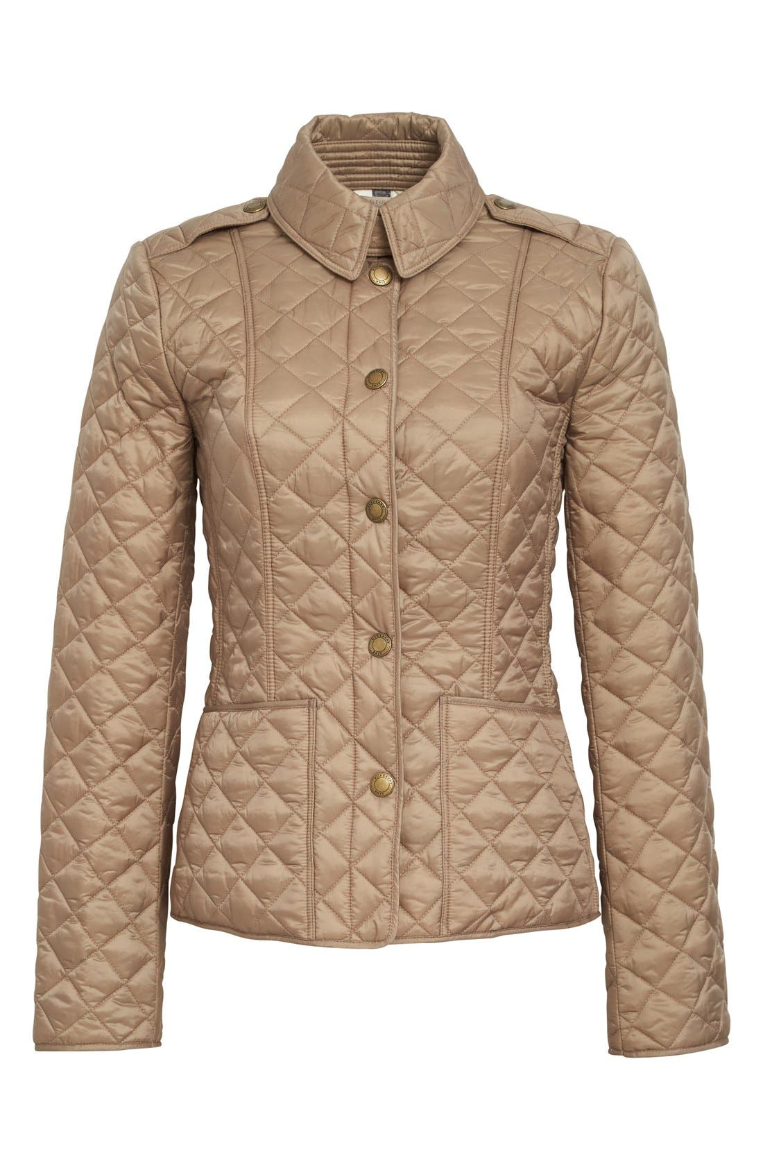 Alternate Image 4  - Burberry Brit 'Kencott' Patch Pocket Quilted Coat