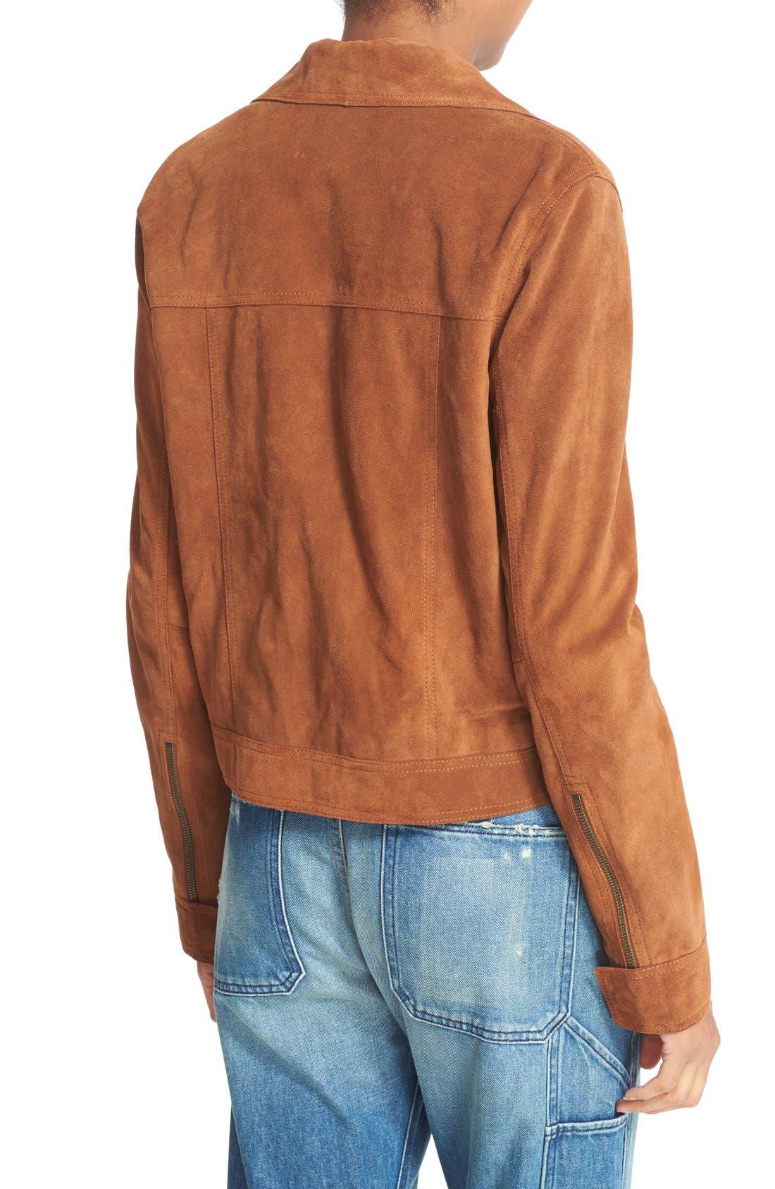 Alternate Image 3  - Vince Suede Jean Moto Jacket