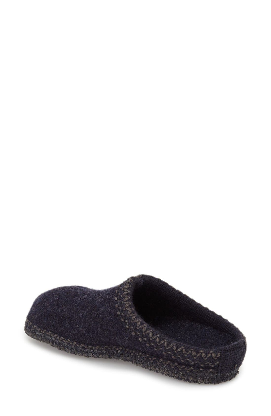 'Classic' Slipper,                             Alternate thumbnail 2, color,                             Navy Wool