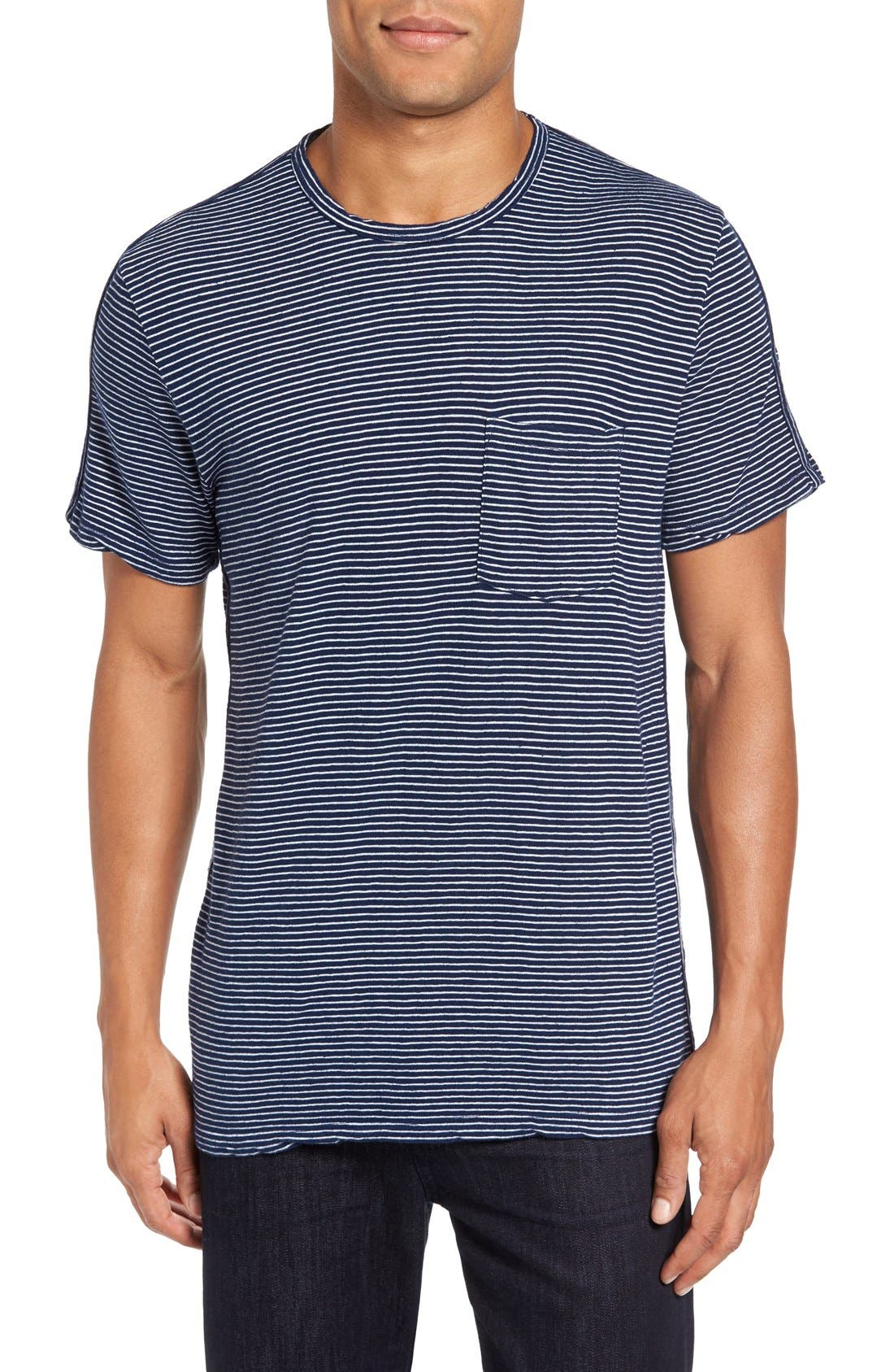 VELVET BY GRAHAM & SPENCER Legend Stripe Piqué T-Shirt