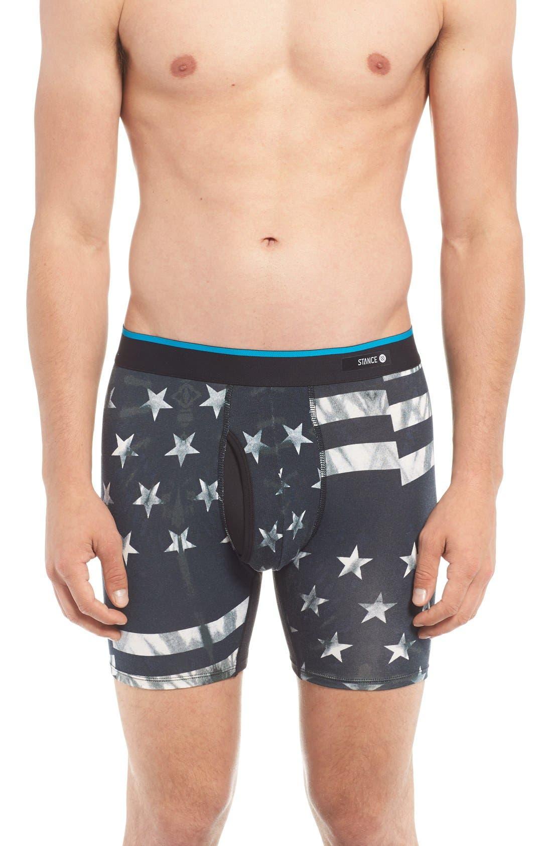 Basilone Fourth Stretch Modal Boxer Briefs,                         Main,                         color, Black