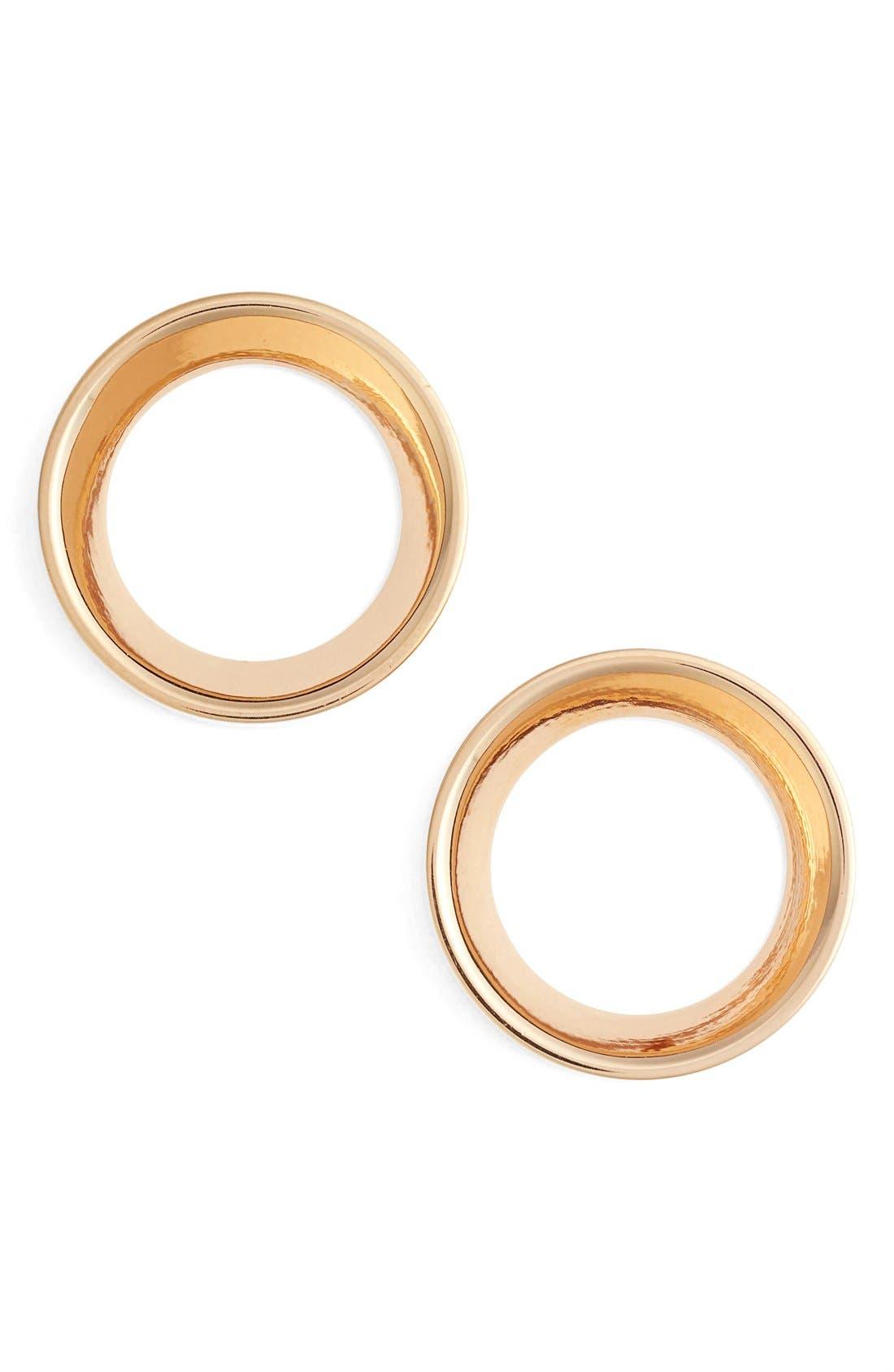 Mini Cosimo Frontal Hoop Earrings,                         Main,                         color, Rose Gold