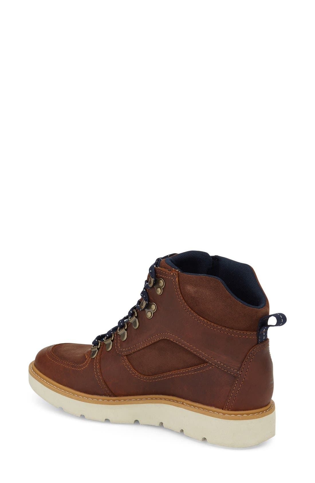 'Kenniston' Lace-Up Boot,                             Alternate thumbnail 2, color,                             Tobacco Leather
