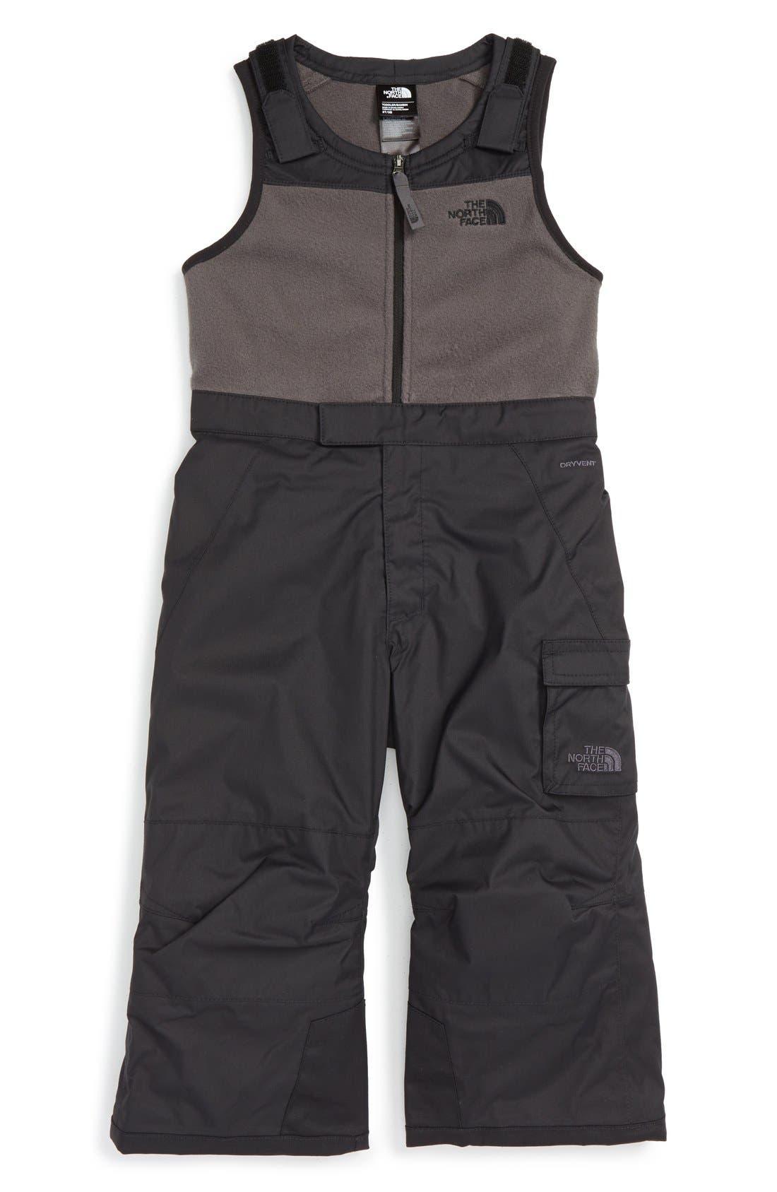 Heekseeker<sup>™</sup> Insulated Waterproof Bib Snowsuit,                         Main,                         color, Tnf Black