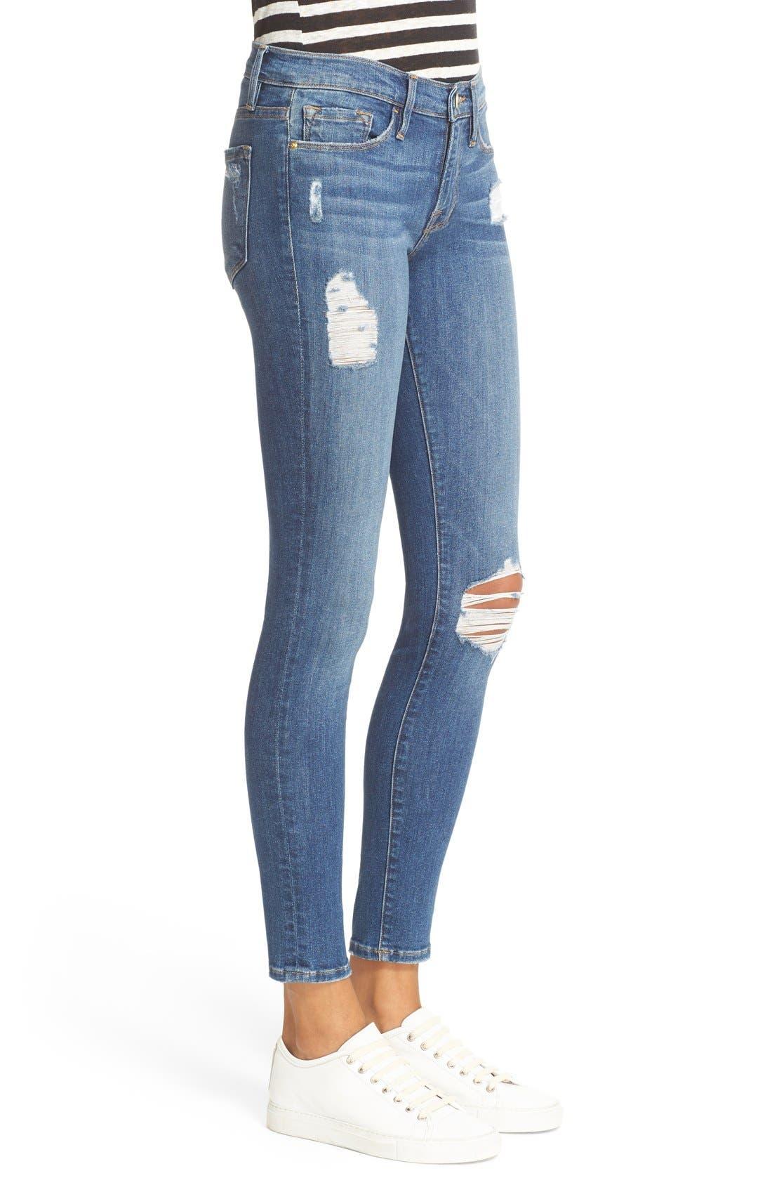 'Le Skinny de Jeanne' Jeans,                             Alternate thumbnail 3, color,                             Hilltop