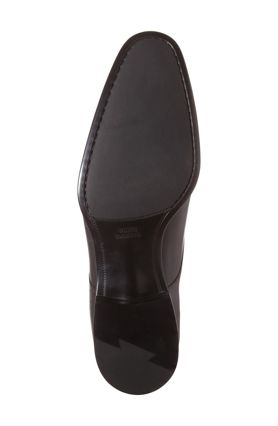 'Trifolo' Monk Strap Shoe,                             Alternate thumbnail 4, color,                             Black Leather