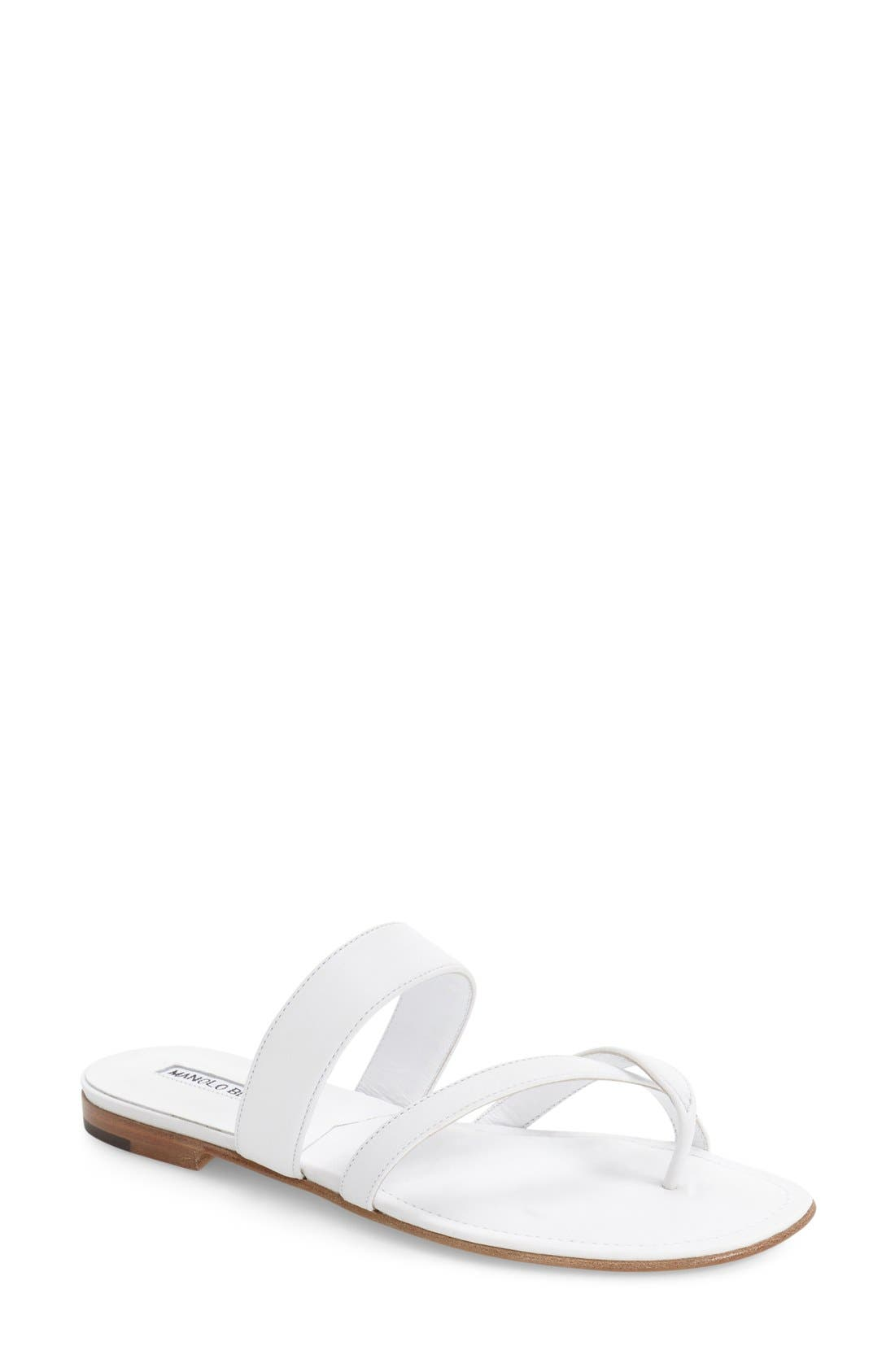 Slide Sandal,                             Main thumbnail 1, color,                             White