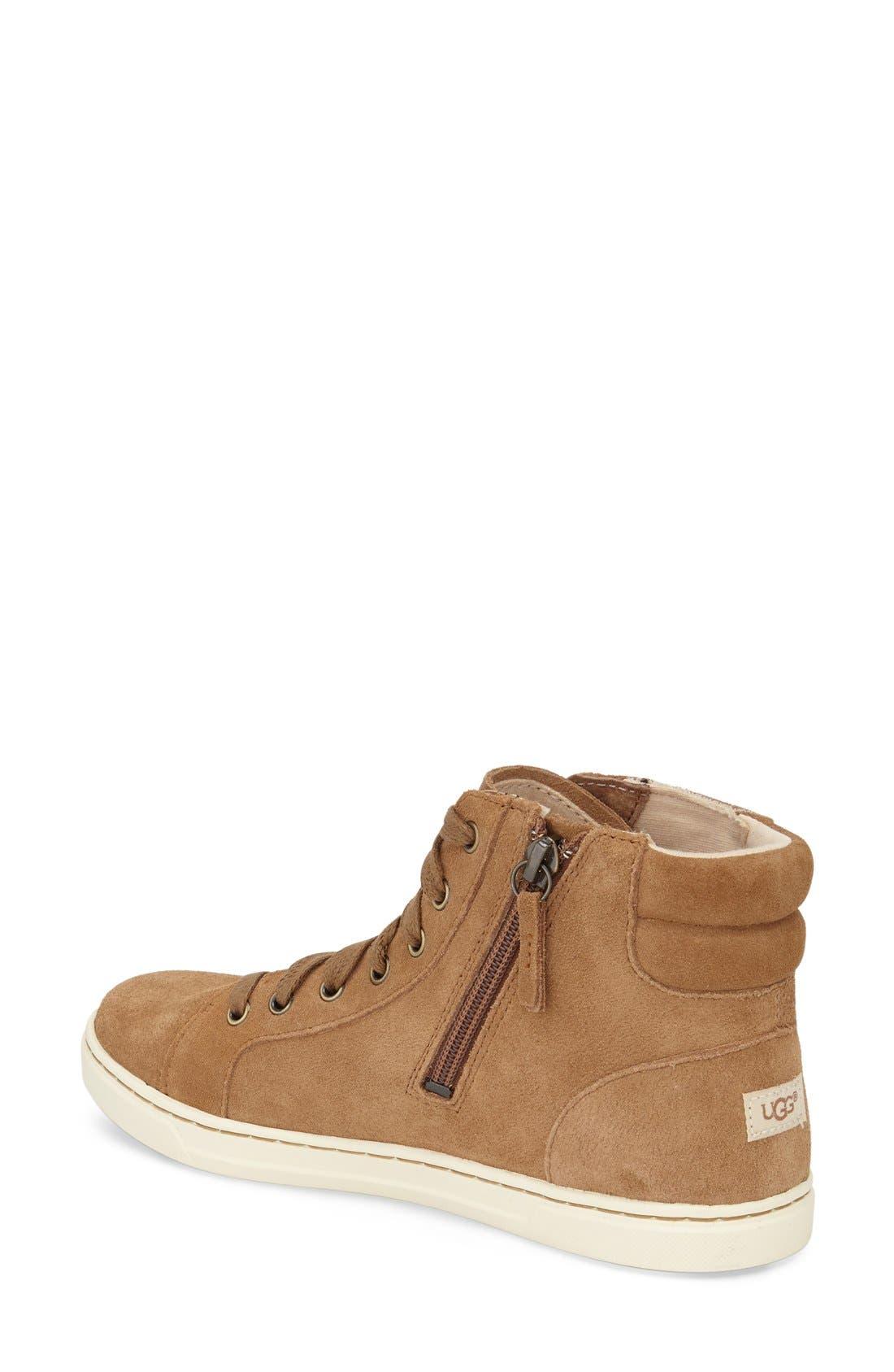 Alternate Image 2  - UGG® Gradie Deco Stud High Top Sneaker (Women)