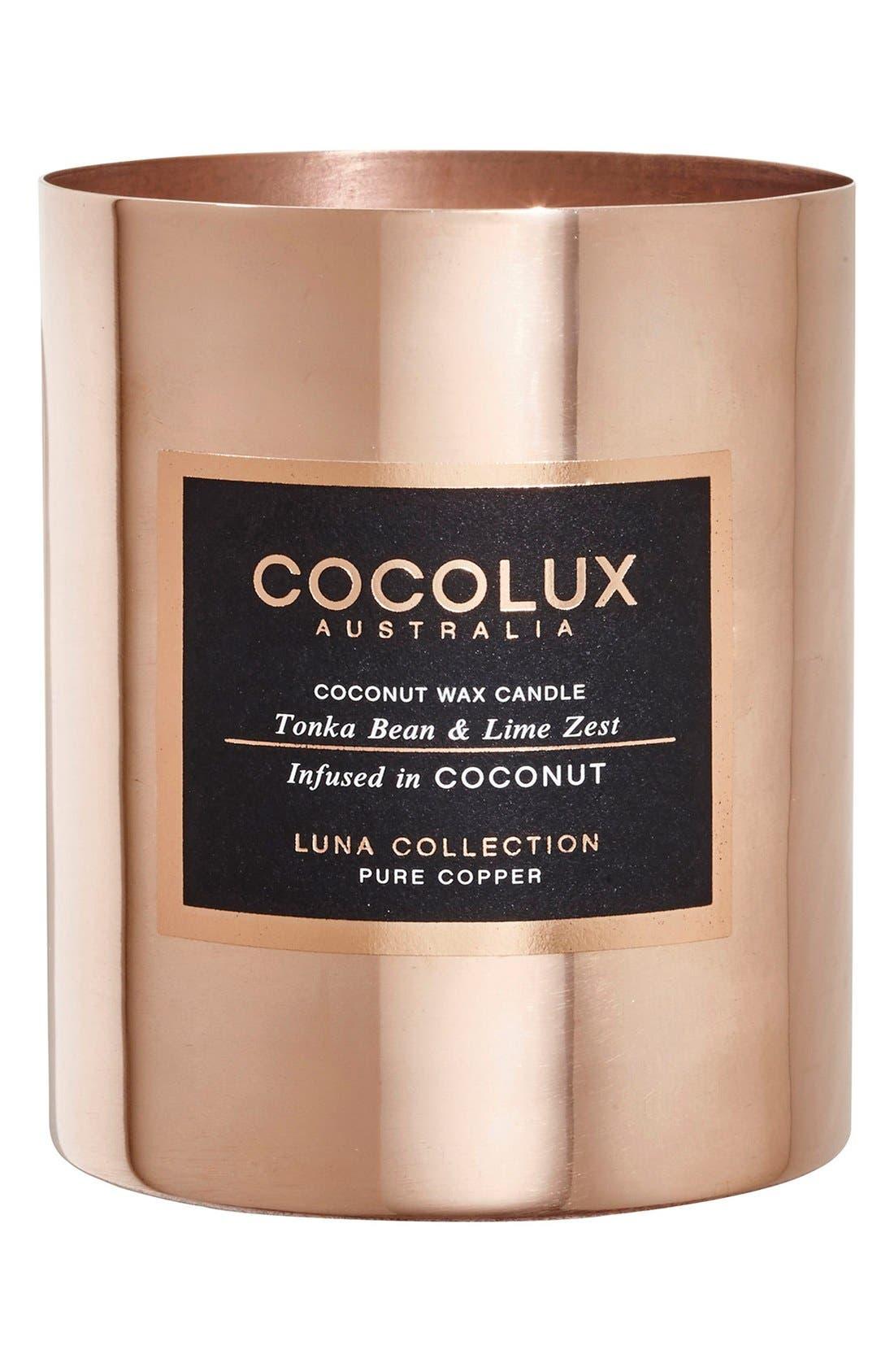 Alternate Image 1 Selected - Cocolux Australia Tonka Bean & Lime Zest Copper Candle