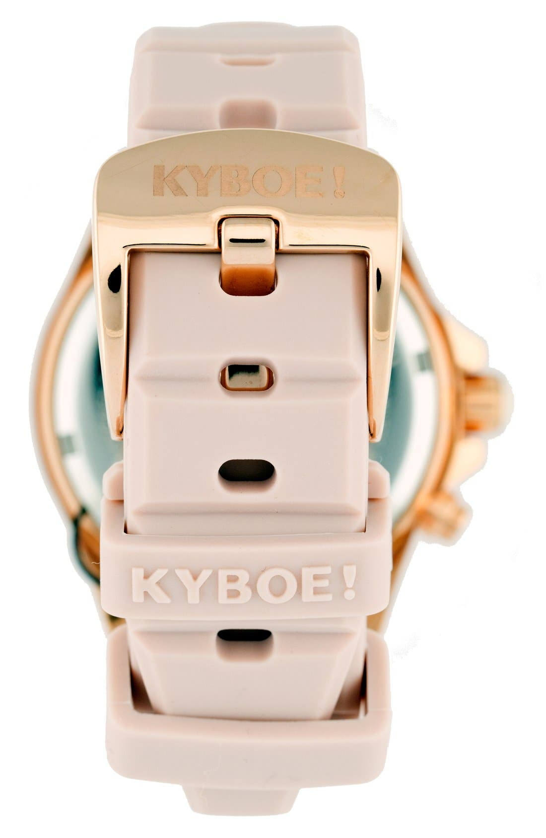 Alternate Image 2  - KYBOE! Power Silicone Strap Watch, 40mm