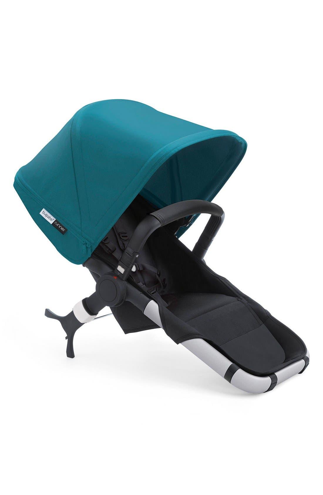 Runner Seat for Bugaboo Runner Stroller,                             Main thumbnail 1, color,                             Black/ Petrol Blue