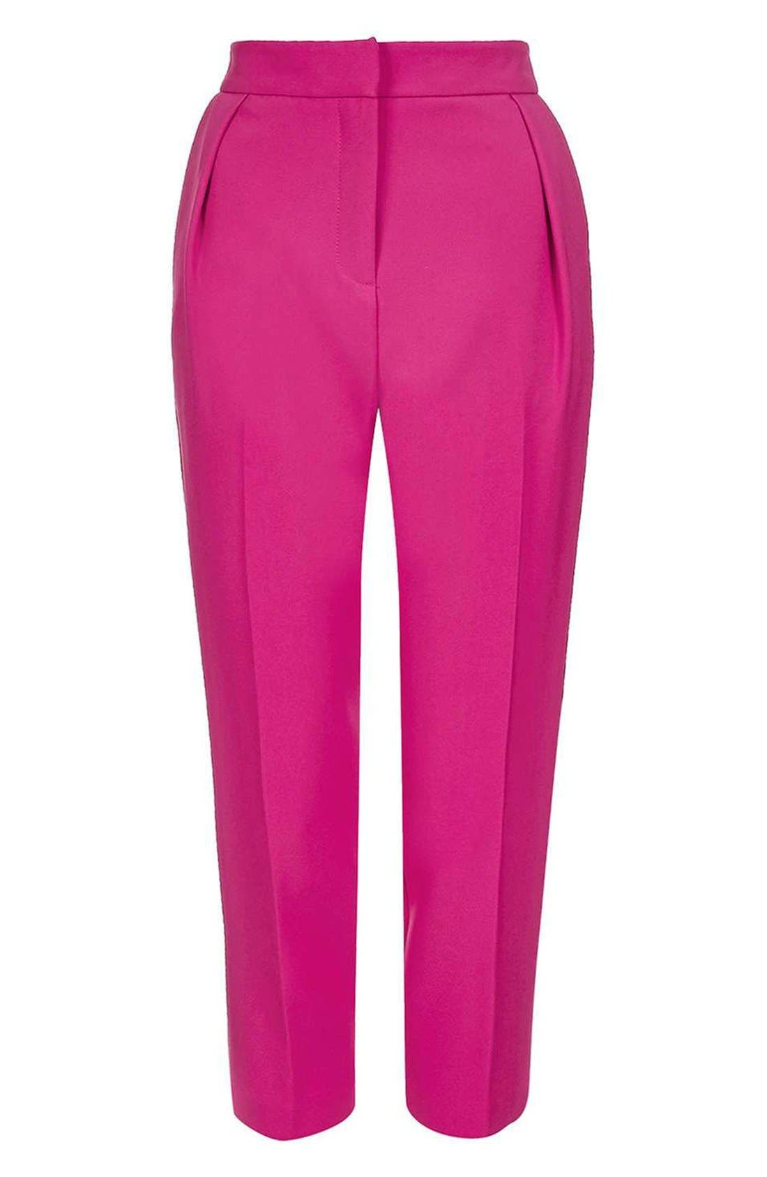 Alternate Image 4  - Topshop Structured Peg Trousers